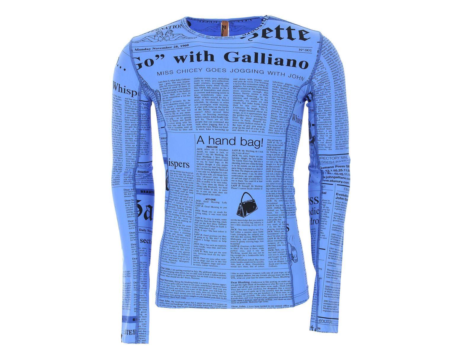 8aa4fdf0aa Maillots de Bain Homme Pas cher en Soldes John Galliano pour homme en  coloris Bleu - 20 % de réduction - Lyst