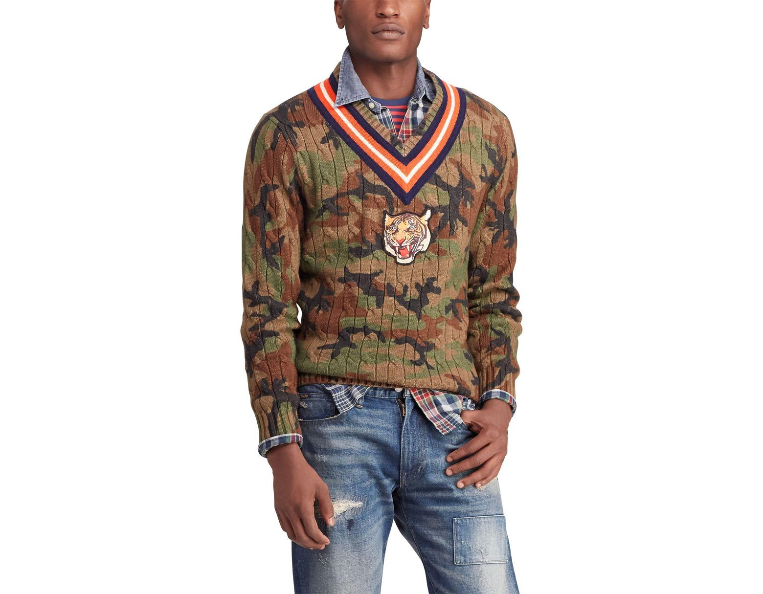 b7f46da5 Polo Ralph Lauren Multicoloured V-neck Sweater for Men - Save 59% - Lyst