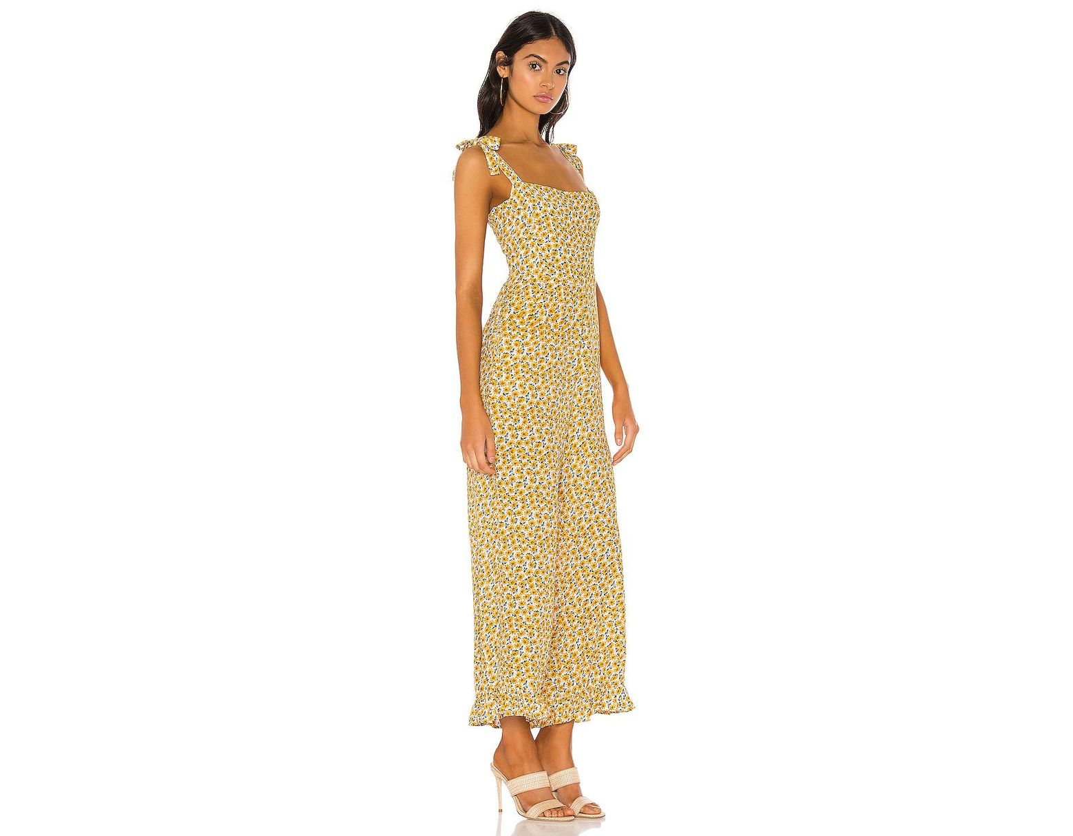 d3a0e160f7e2 Faithfull The Brand Frankie Jumpsuit in Yellow - Lyst