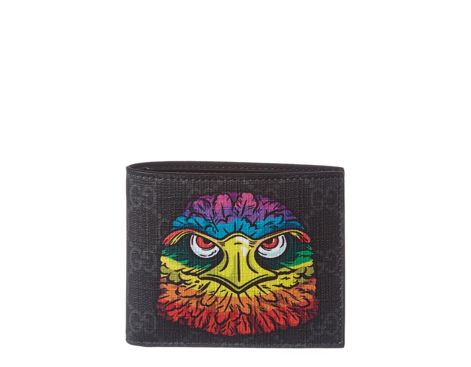 4bf7670e2e1d Gucci Black GG Supreme Eagle Wallet in Black for Men - Save 13% - Lyst