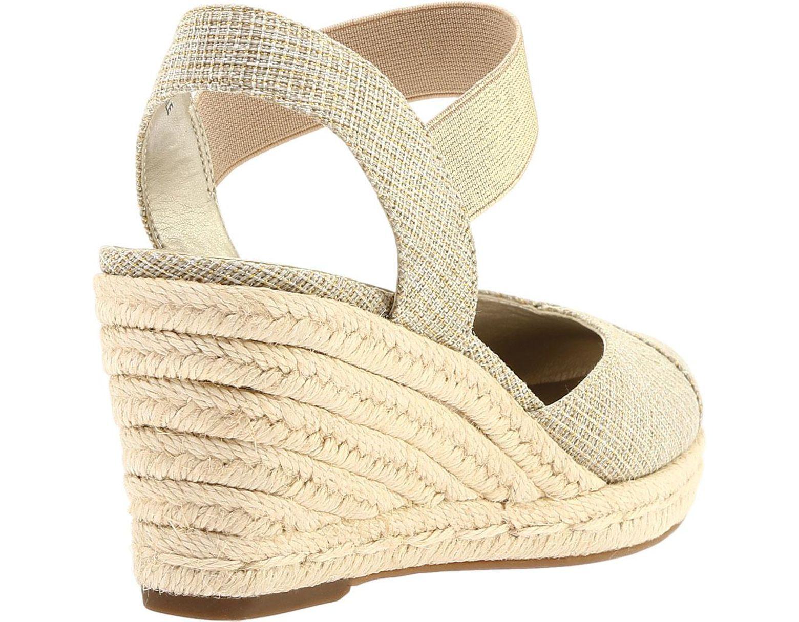 4dff005a4d7 Anne Klein Acer Closed Toe Sandal in Metallic - Lyst