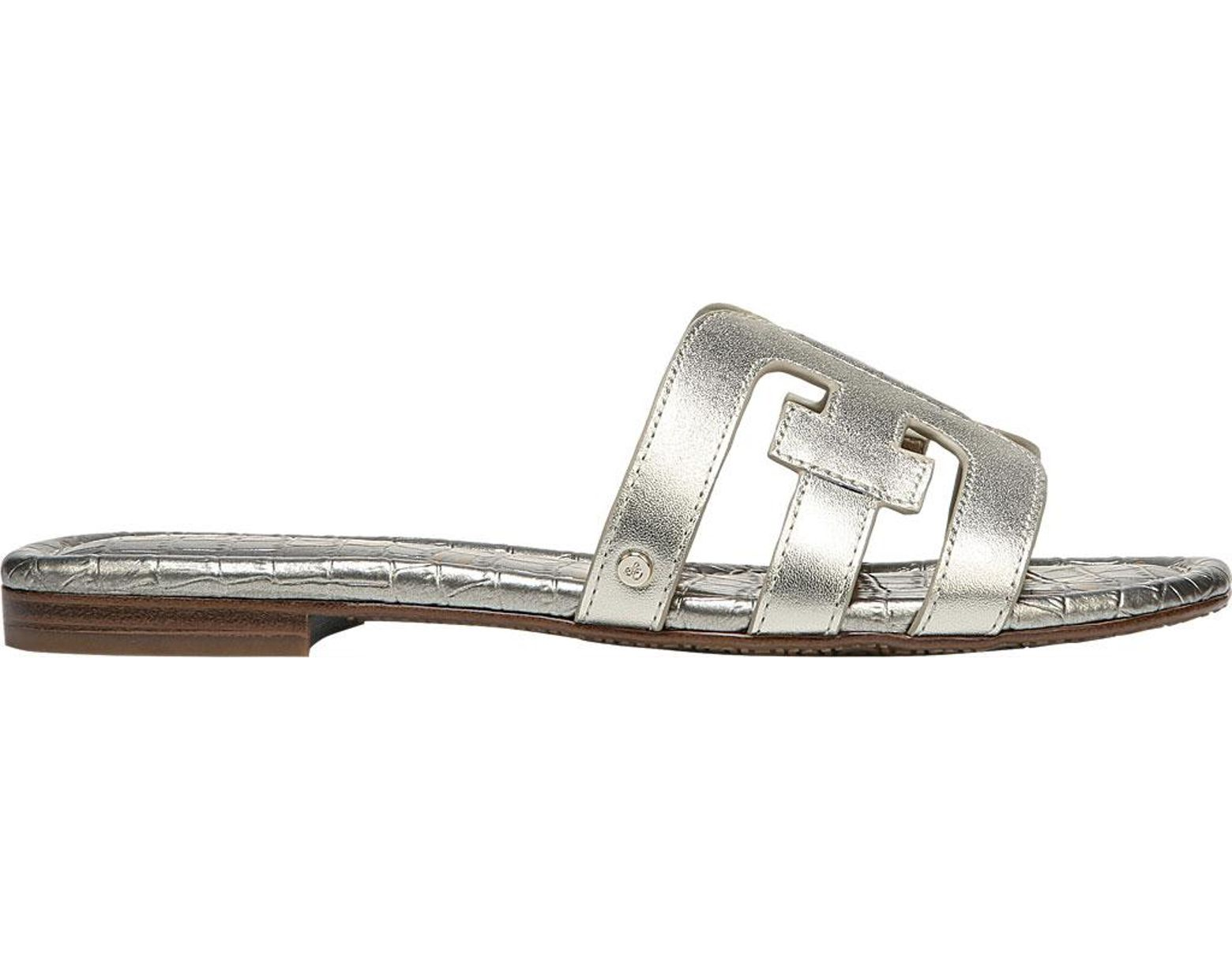 0a2a5d1db53c Lyst - Sam Edelman Women s Bay Slide Sandals in Metallic - Save 51%