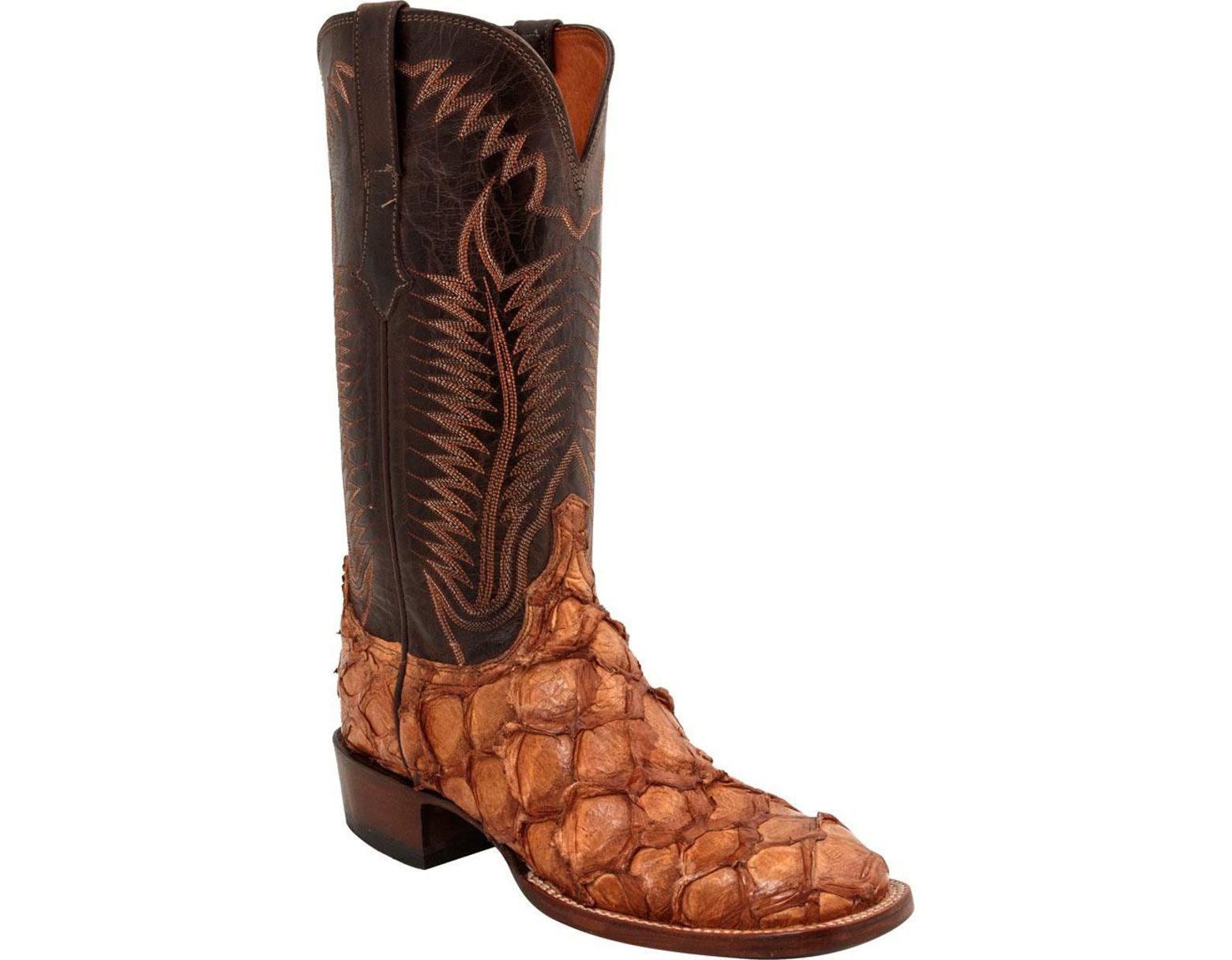 7c9edfbcf16 Men's Brown Brooks W Toe Cowboy Boot
