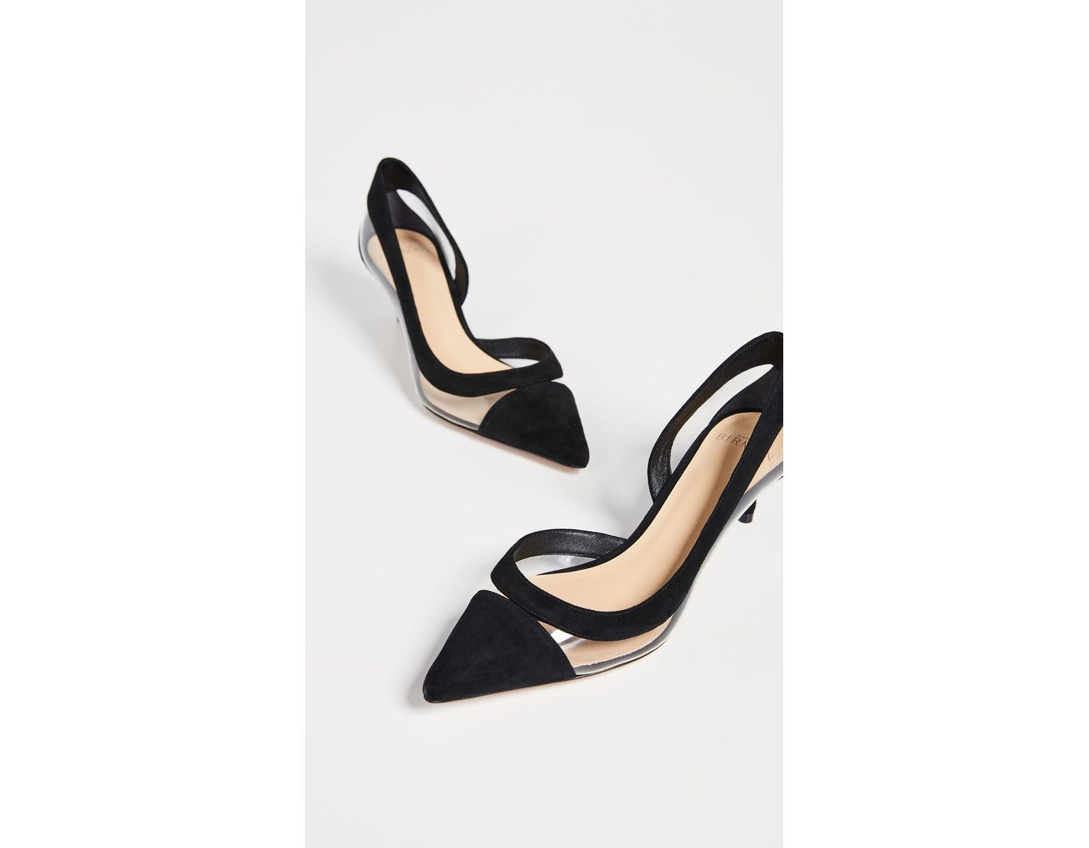 3ce755a16 Alexandre Birman Wavee Vinyl Kitten Pumps in Black - Lyst