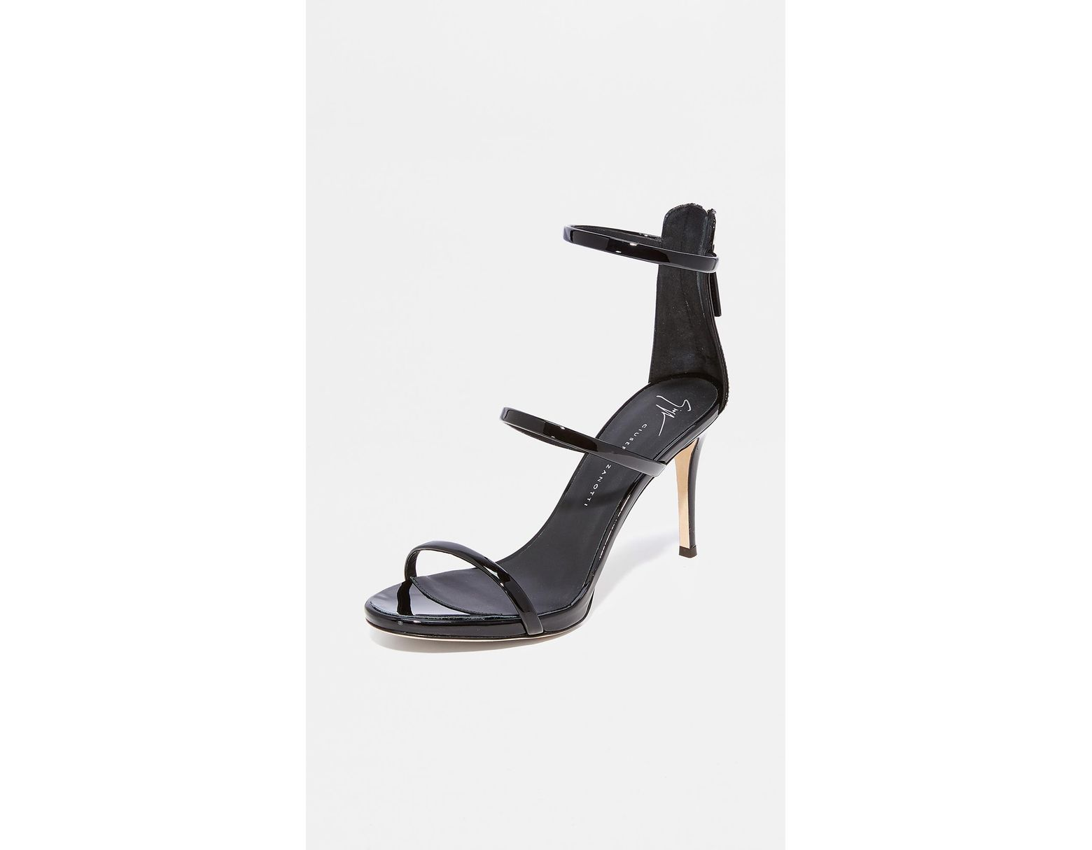 bbd174489be8d Giuseppe Zanotti Alien Sandal Heels in Black - Save 10% - Lyst