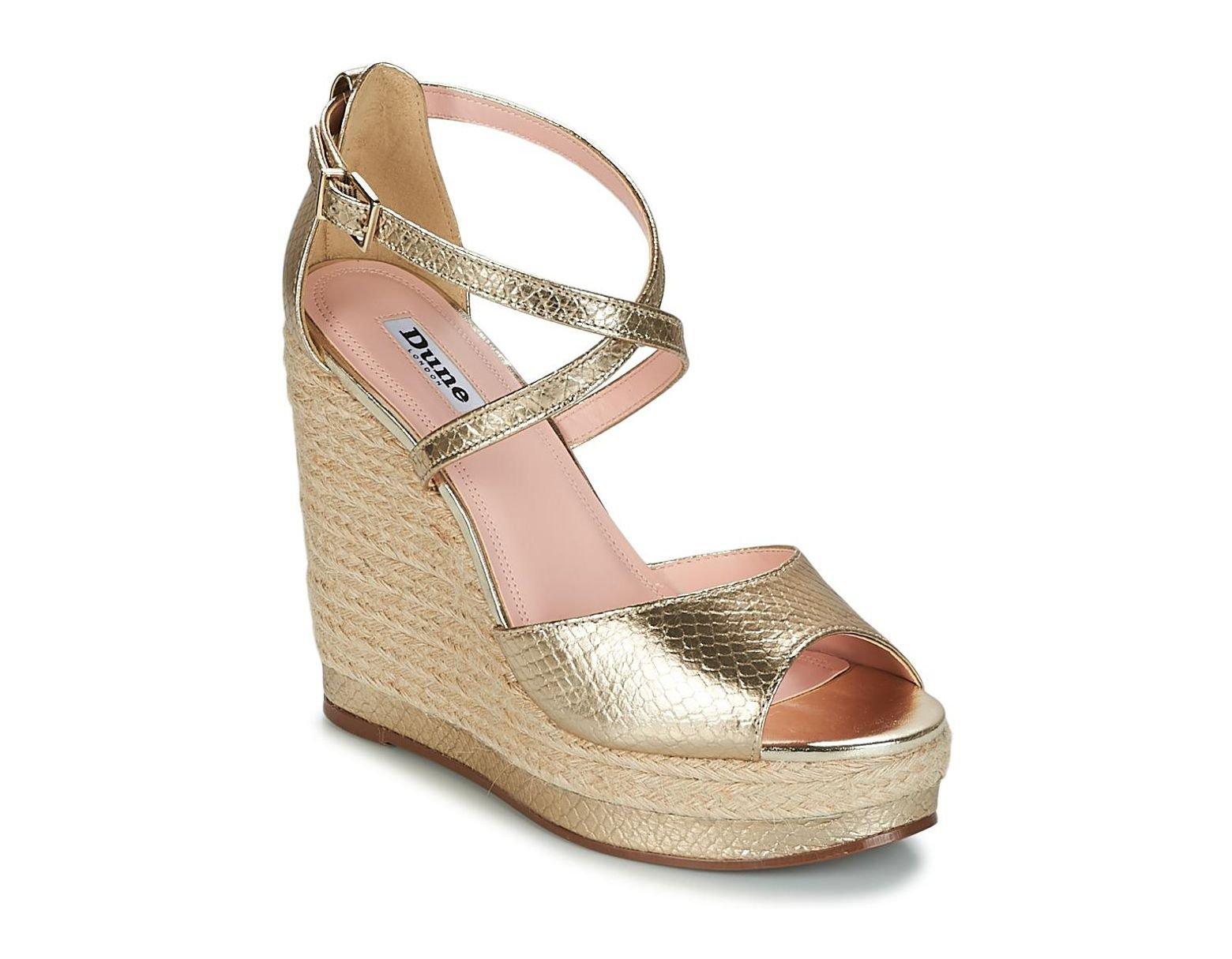 c12b5e1258 Dune Kandis Sandals in Metallic - Lyst