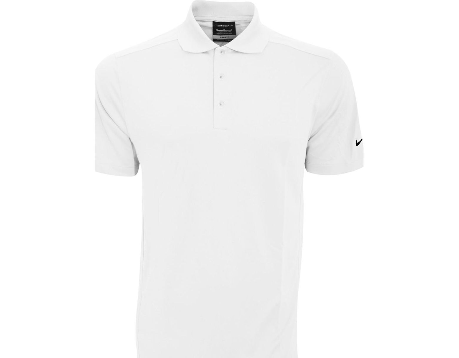 51881a97 Nike Golf Mens Smu Plain Solid Knit Short Sleeve Polo Shirt Men's Polo Shirt  In White in White for Men - Save 47% - Lyst