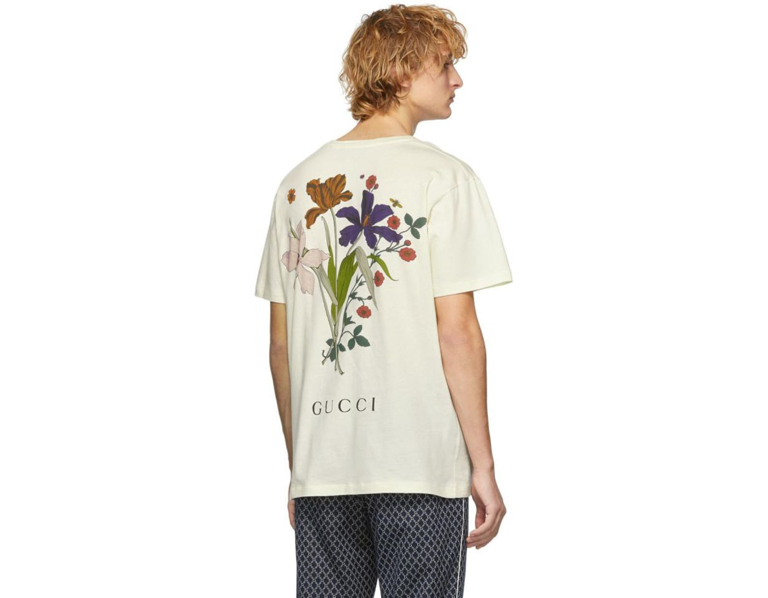 4a73207d24e9 Gucci Off-white Chateau Marmont T-shirt in White for Men - Lyst