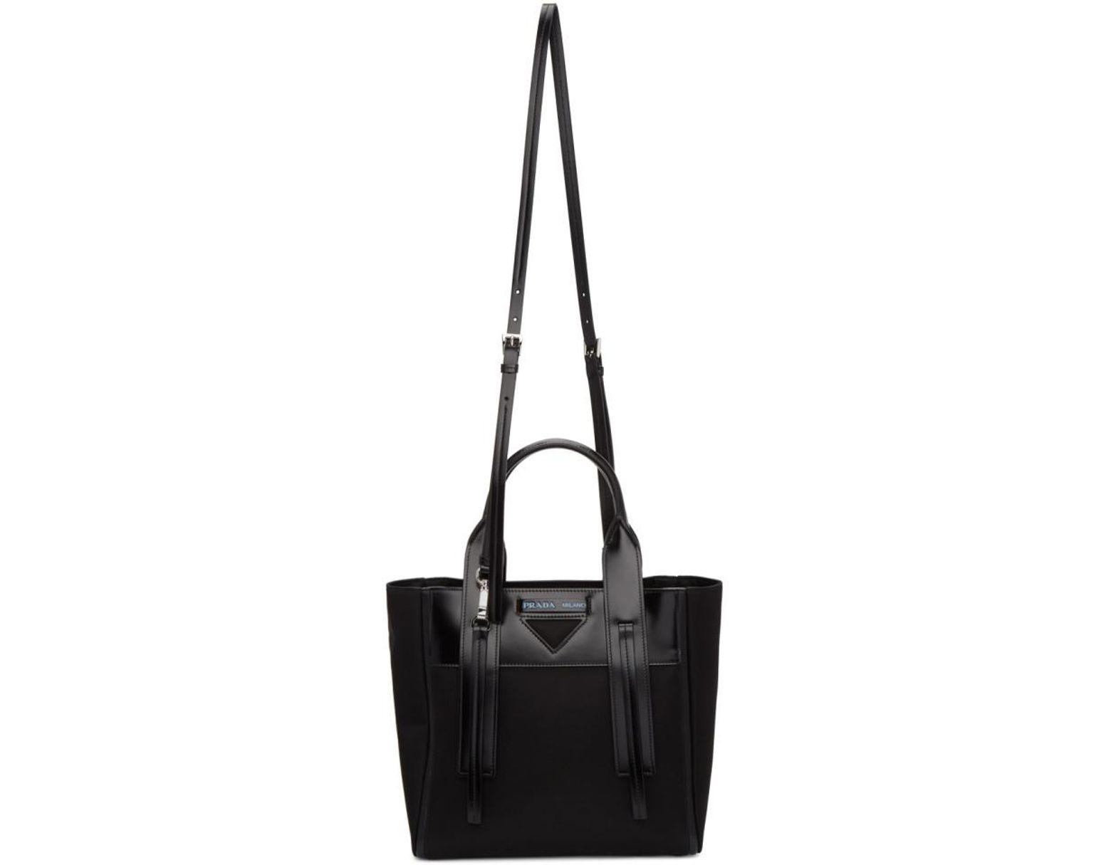 79330a173151 Prada Black Ouverture Tote Bag in Black - Lyst