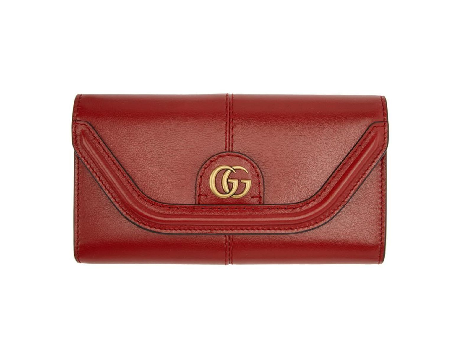 819615ac74e5 Gucci Red GG Default Flap Wallet in Red - Save 9% - Lyst