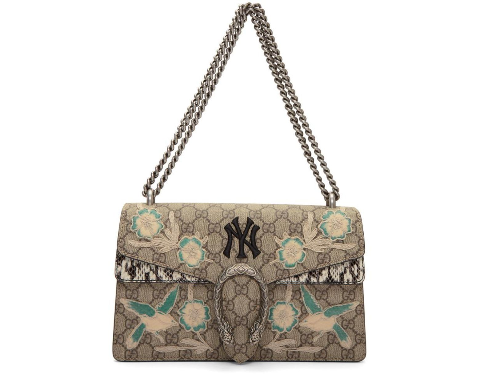 f6fe857d7d7 Lyst - Gucci Brown Small Ny Yankees Edition Dionysus Bag in Brown