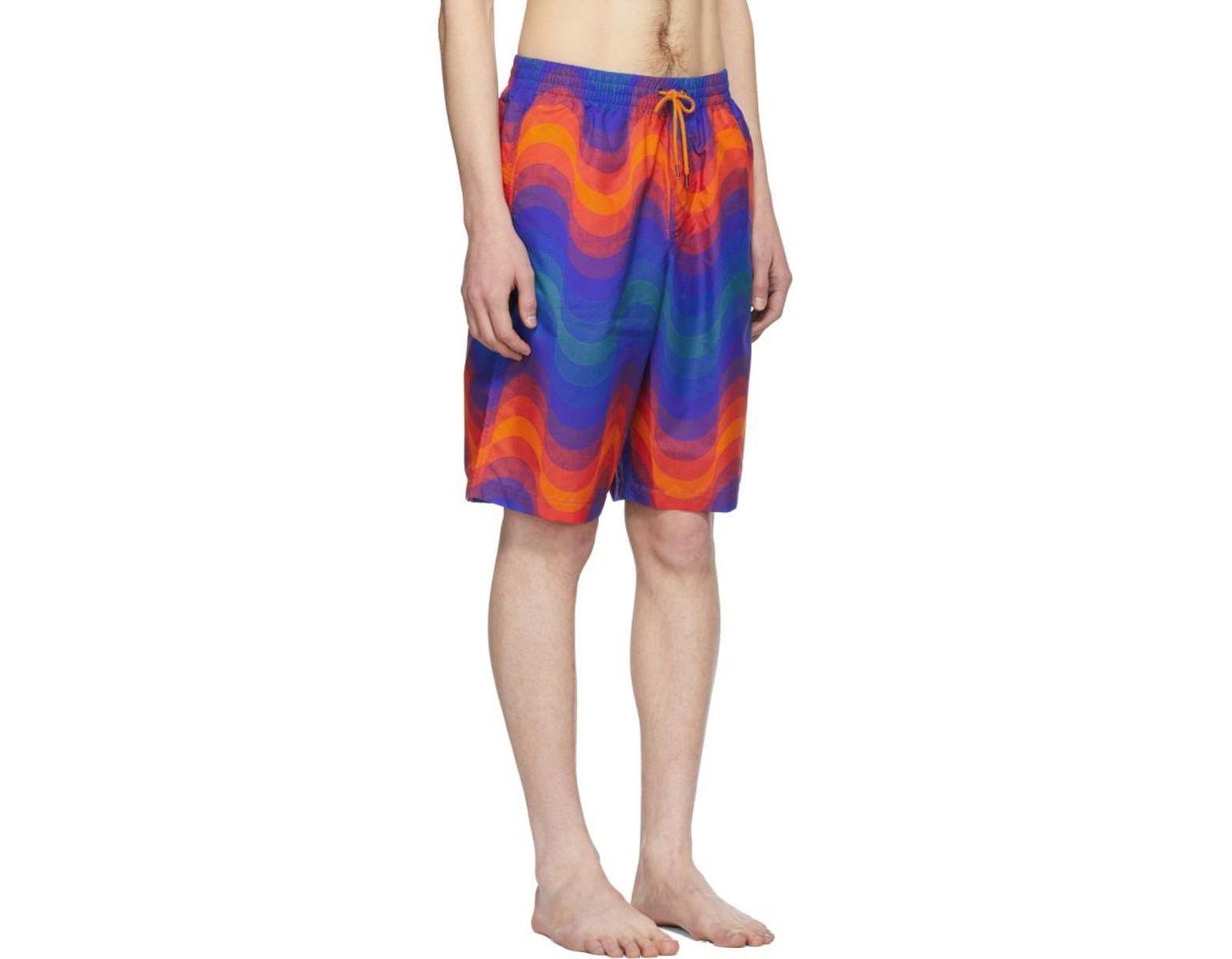 04bdcdb790 Dries Van Noten Orange Verner Panton Edition Phibbs Long Swim Shorts in  Orange for Men - Lyst