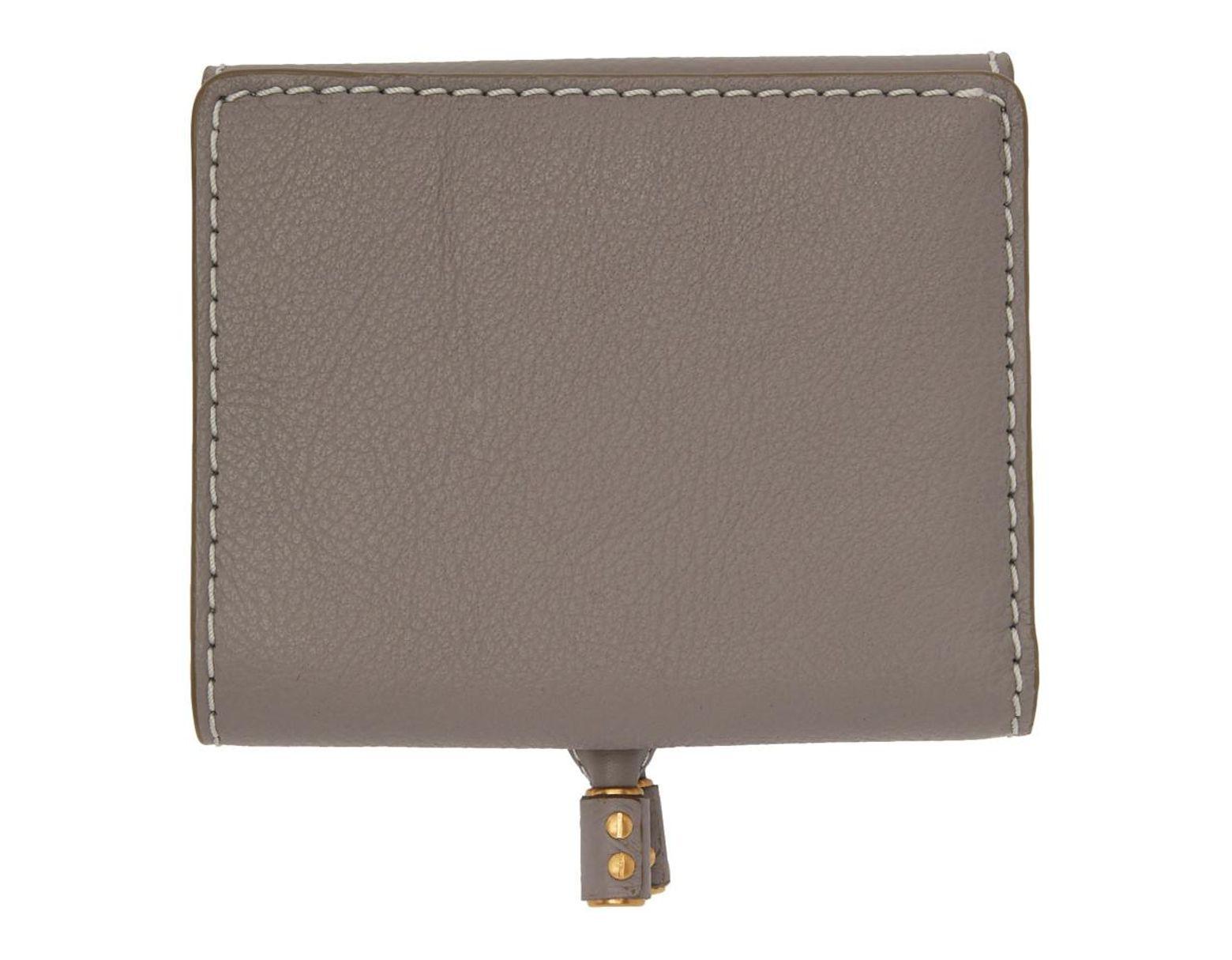 0c4df94e Chloé Grey Marcie Square Wallet in Gray - Lyst