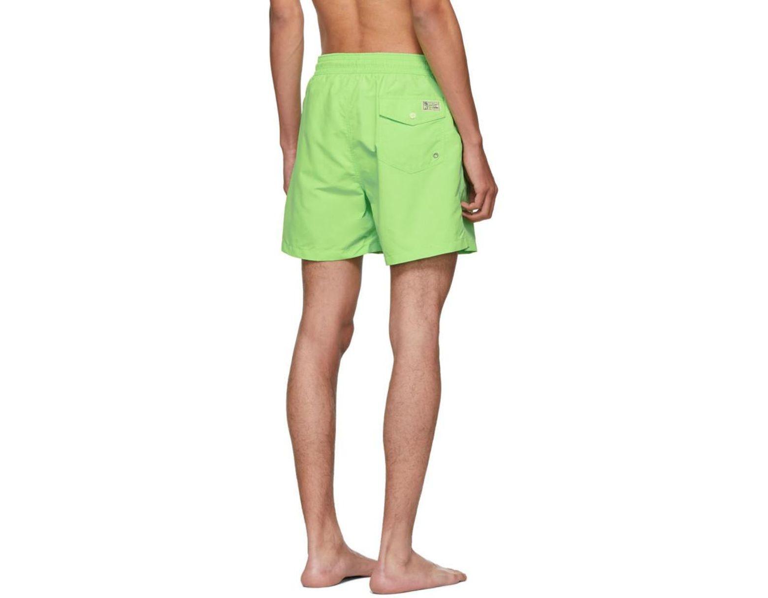 d6ec2ed8c0f56 Lyst - Polo Ralph Lauren Green Traveler Swim Shorts in Green for Men