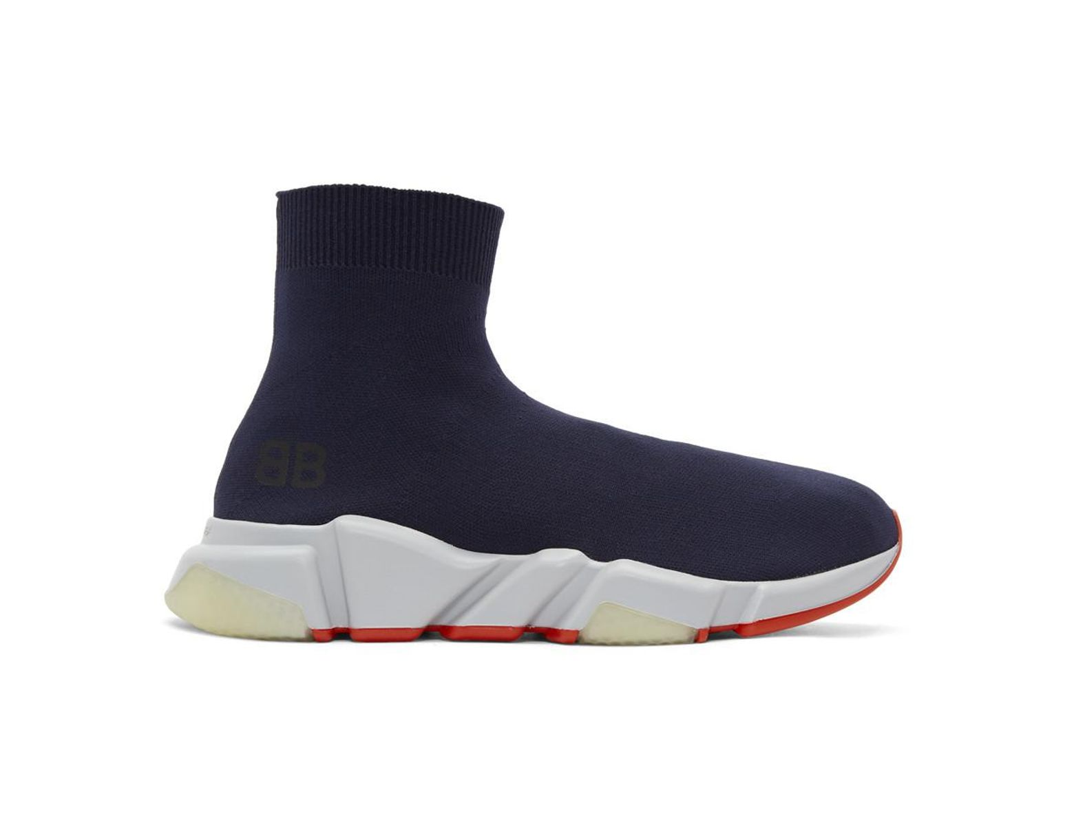 c87267e92 Balenciaga Navy Speed Runners High-top Sneakers in Blue for Men - Save 47%  - Lyst