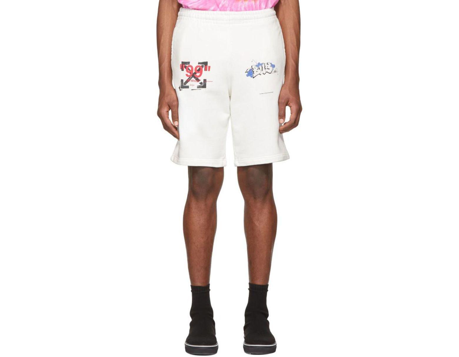 07b2b5ac8e Off-White c/o Virgil Abloh White Dondi Bus Shorts in White for Men - Lyst