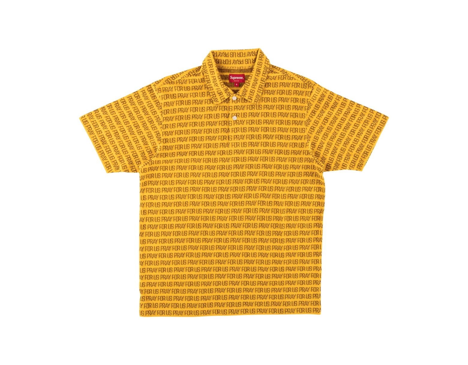 d08ec537 Supreme Pray For Us Jacquard Polo in Metallic for Men - Lyst
