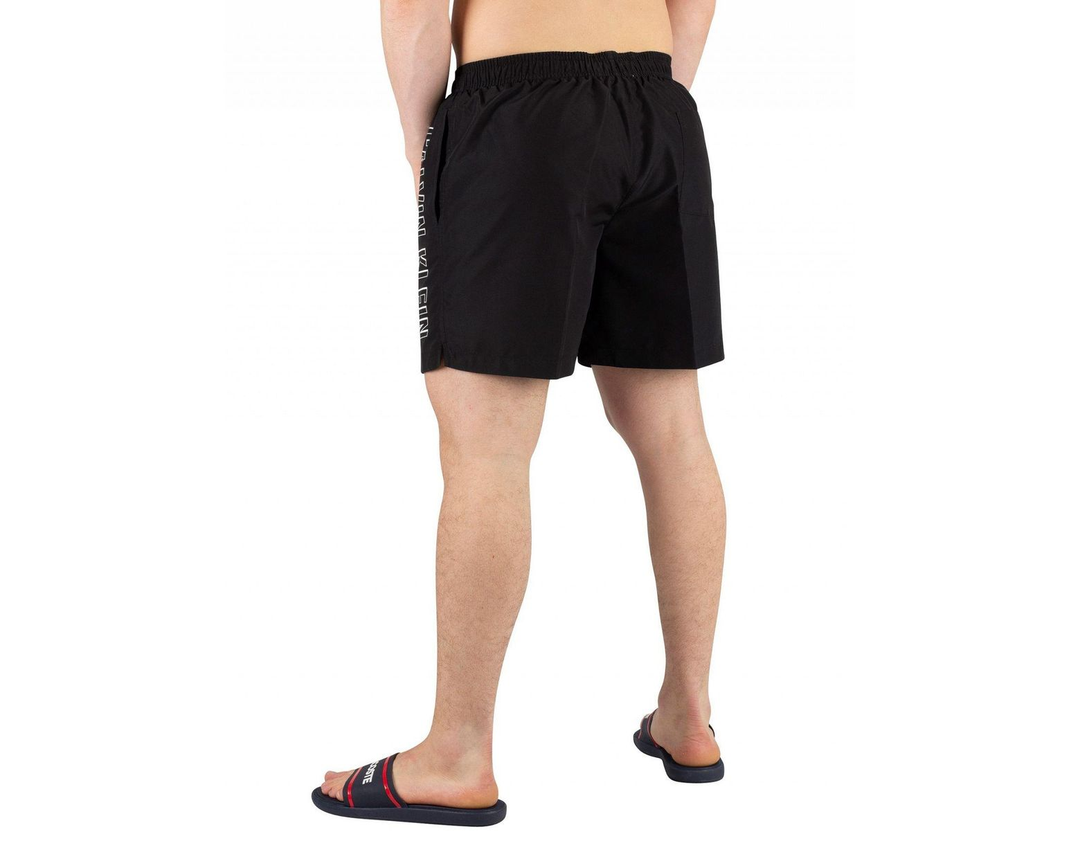 dd7929384f Calvin Klein Men's Medium Drawstring Swimshorts, Black Men's Shorts In  Black in Black for Men - Lyst