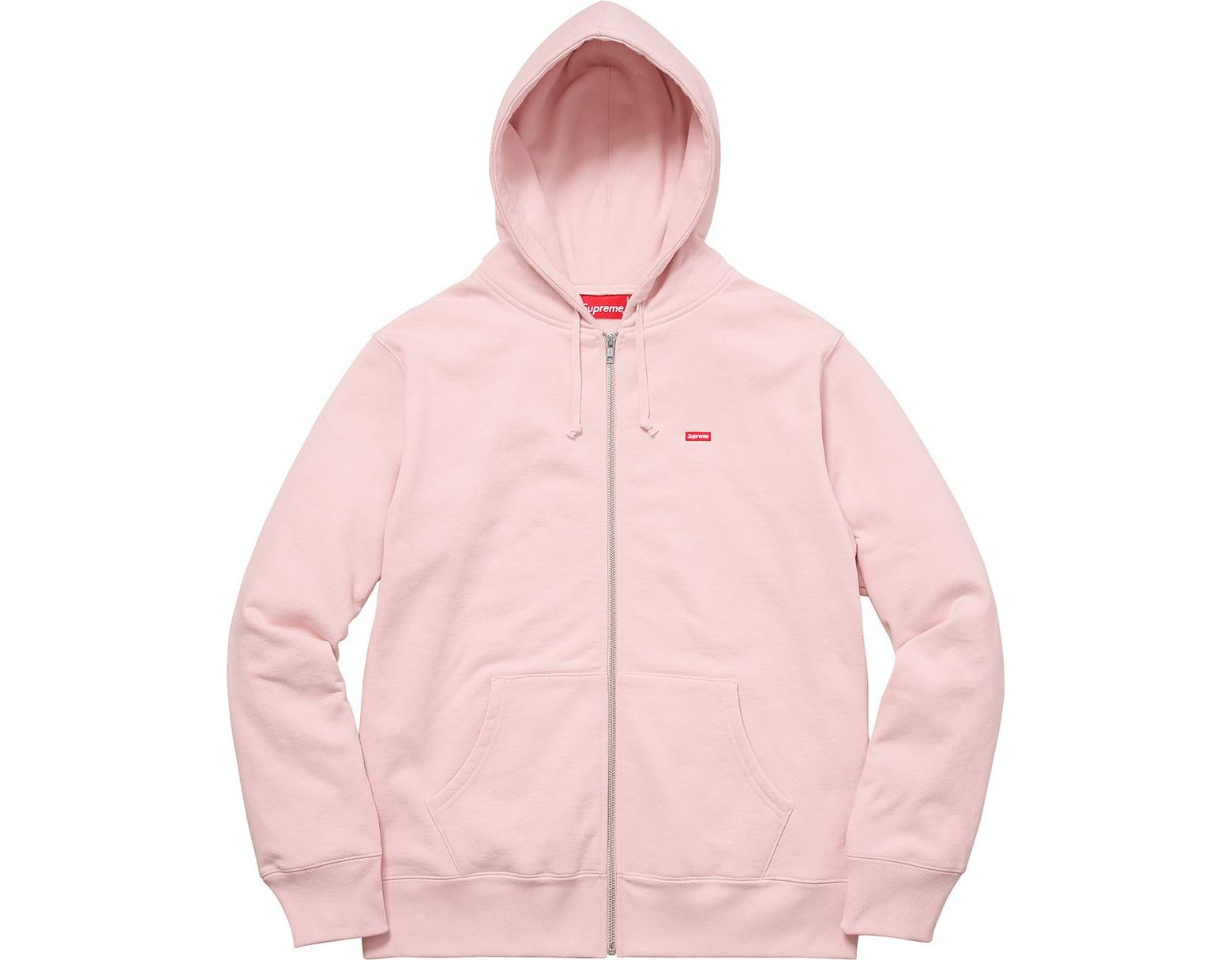 c1f11cec Supreme Small Box Zip Up Sweatshirt Pale Pink in Pink for Men - Save 42% -  Lyst
