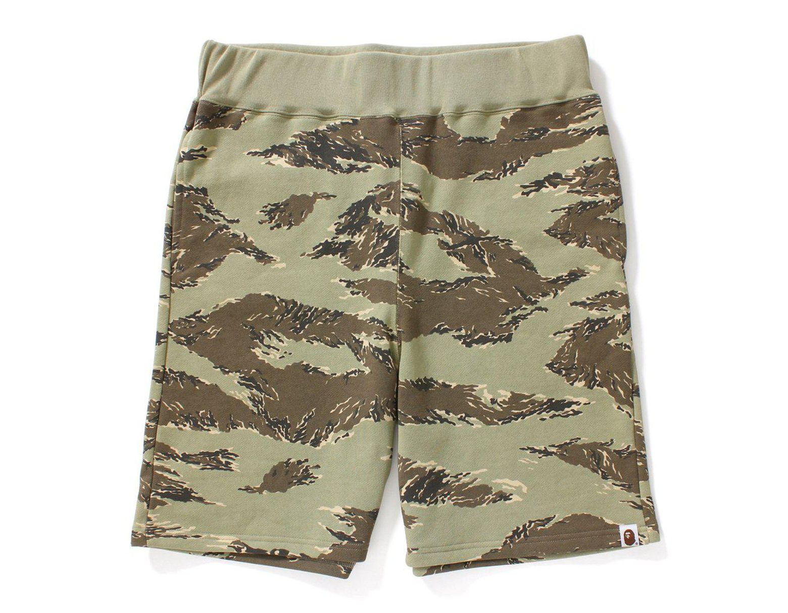 e5b0e2fb A Bathing Ape Tiger Camo Sweat Shorts Shorts Beige in Natural for Men - Lyst