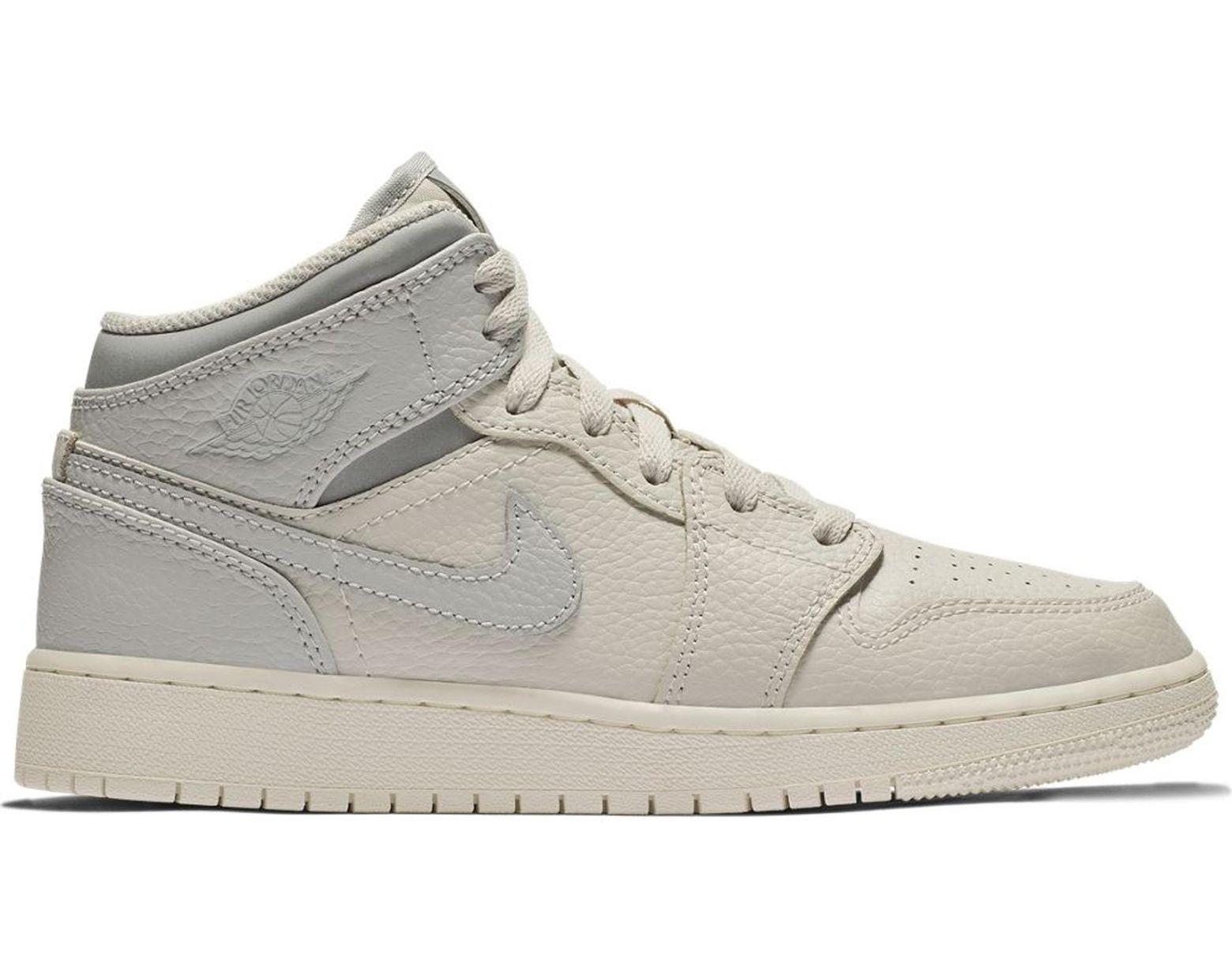 63e2ba25 Nike 1 Mid Light Bone Wolf Grey (gs) in Gray for Men - Lyst