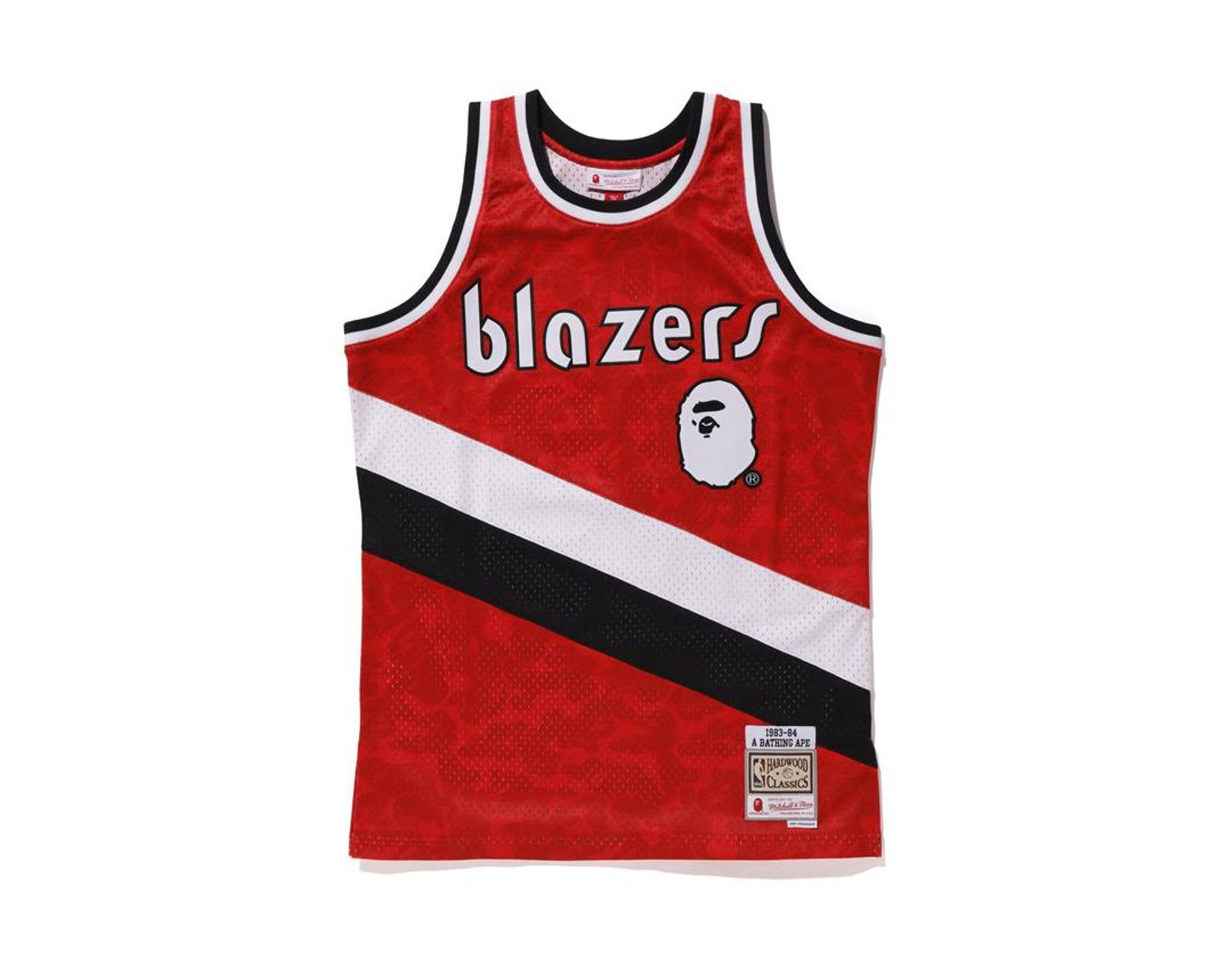12a928f6758 Lyst - A Bathing Ape X Mitchell   Ness Blazers Abc Basketball Swingman  Jersey Burgundy in Red for Men