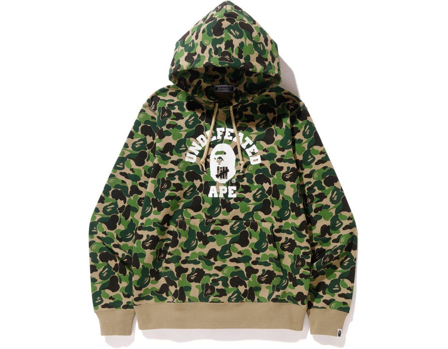 38f6330b A Bathing Ape X Undefeated Abc College Pullover Hoodie Green in Green for  Men - Lyst