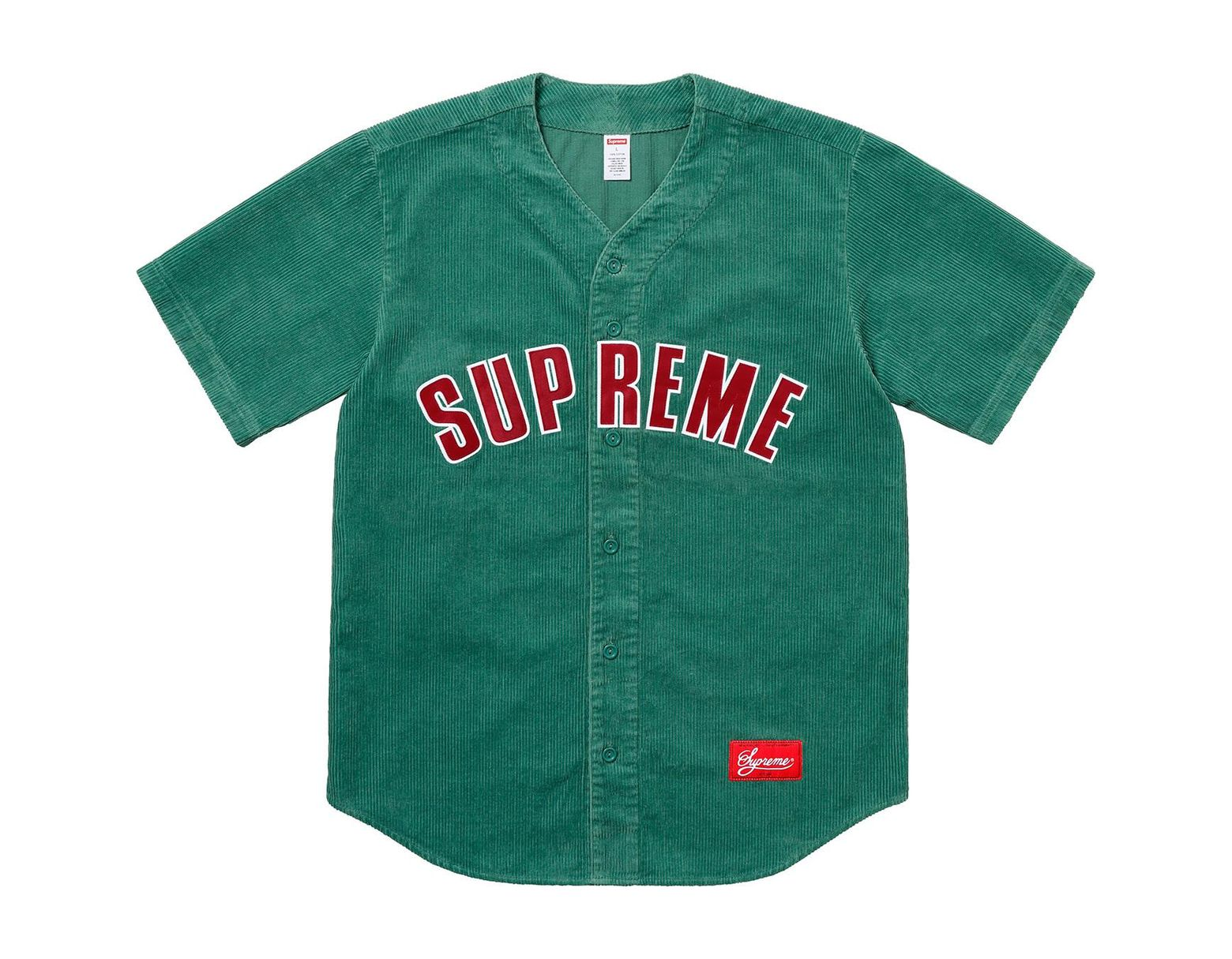 4bdab4b4 Supreme Corduroy Baseball Jersey Dusty Teal in Green for Men - Save 35% -  Lyst