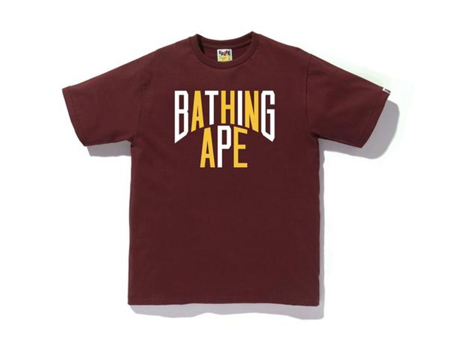 03c5c08a A Bathing Ape Colors Nyc Logo Tee Burgundy in Red for Men - Lyst