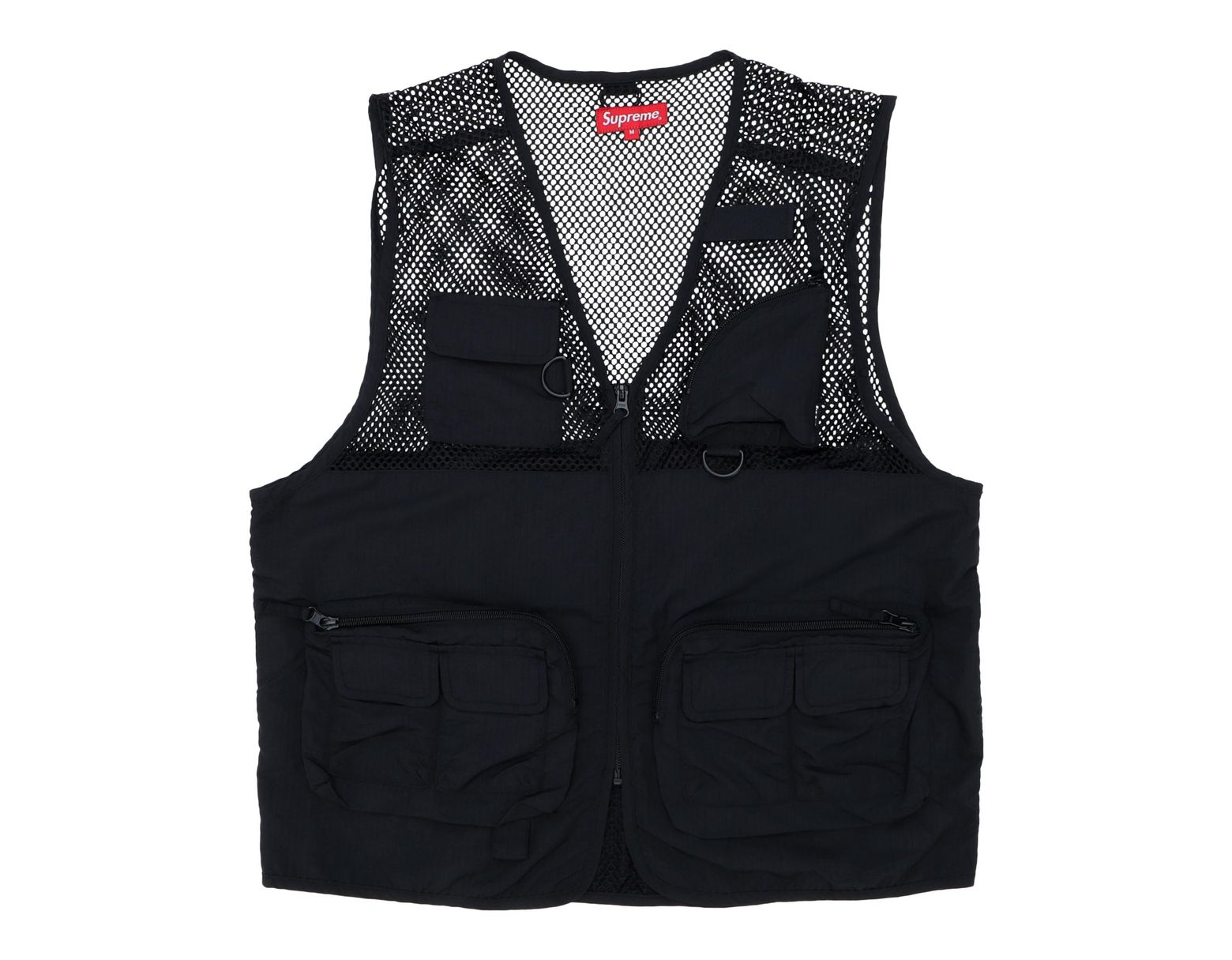 294bd2b4 Supreme Mesh Cargo Vest Black in Black for Men - Lyst