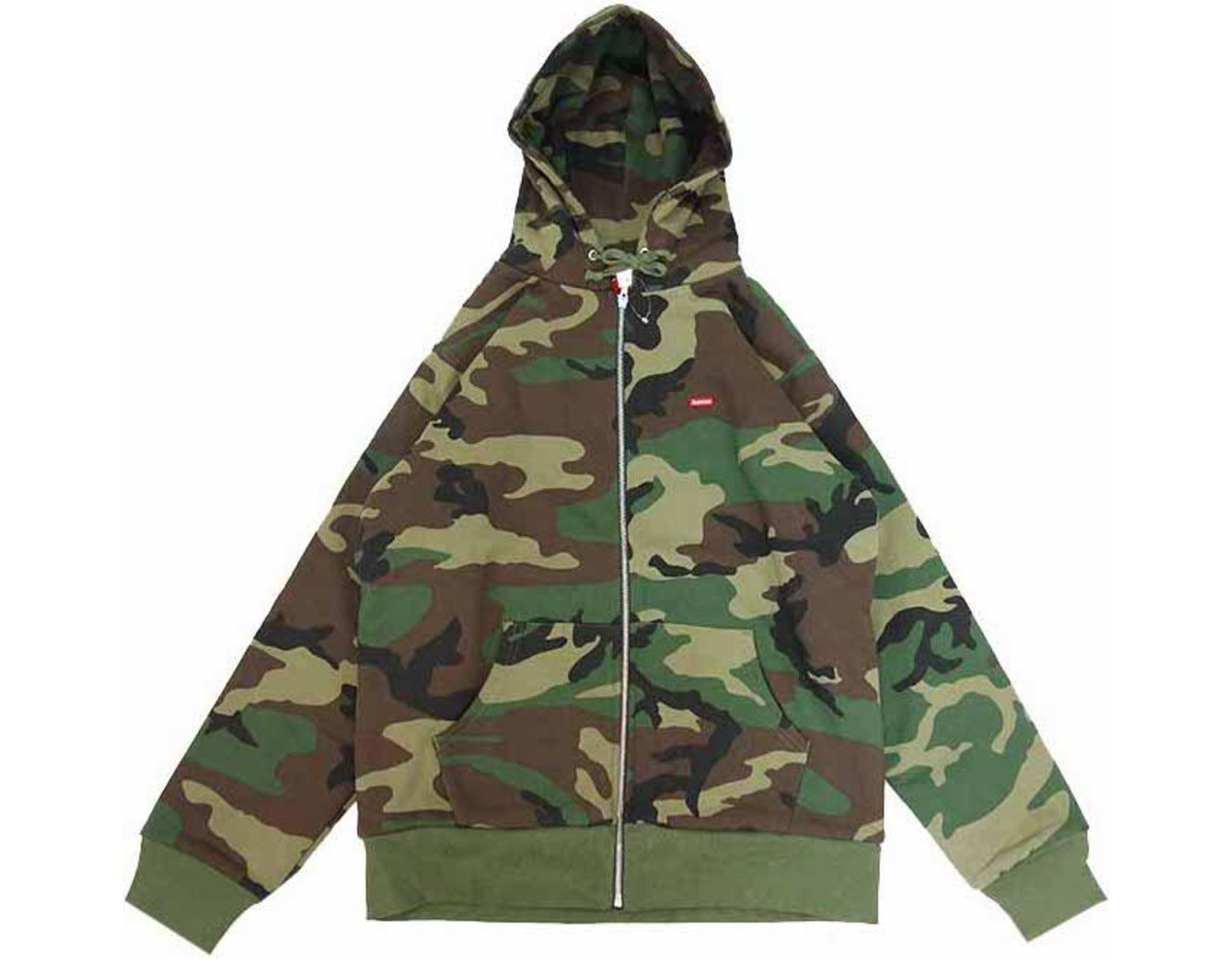b294c591 Supreme Small Box Thermal Zip Up Sweat Woodland Camo in Green for Men - Lyst