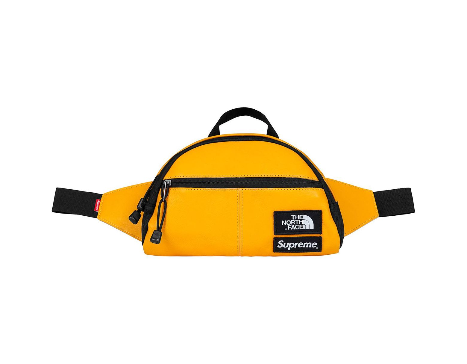 4dc3cdaee4 Supreme The North Face Leather Roo Ii Lumbar Pack Yellow in Yellow for Men  - Lyst