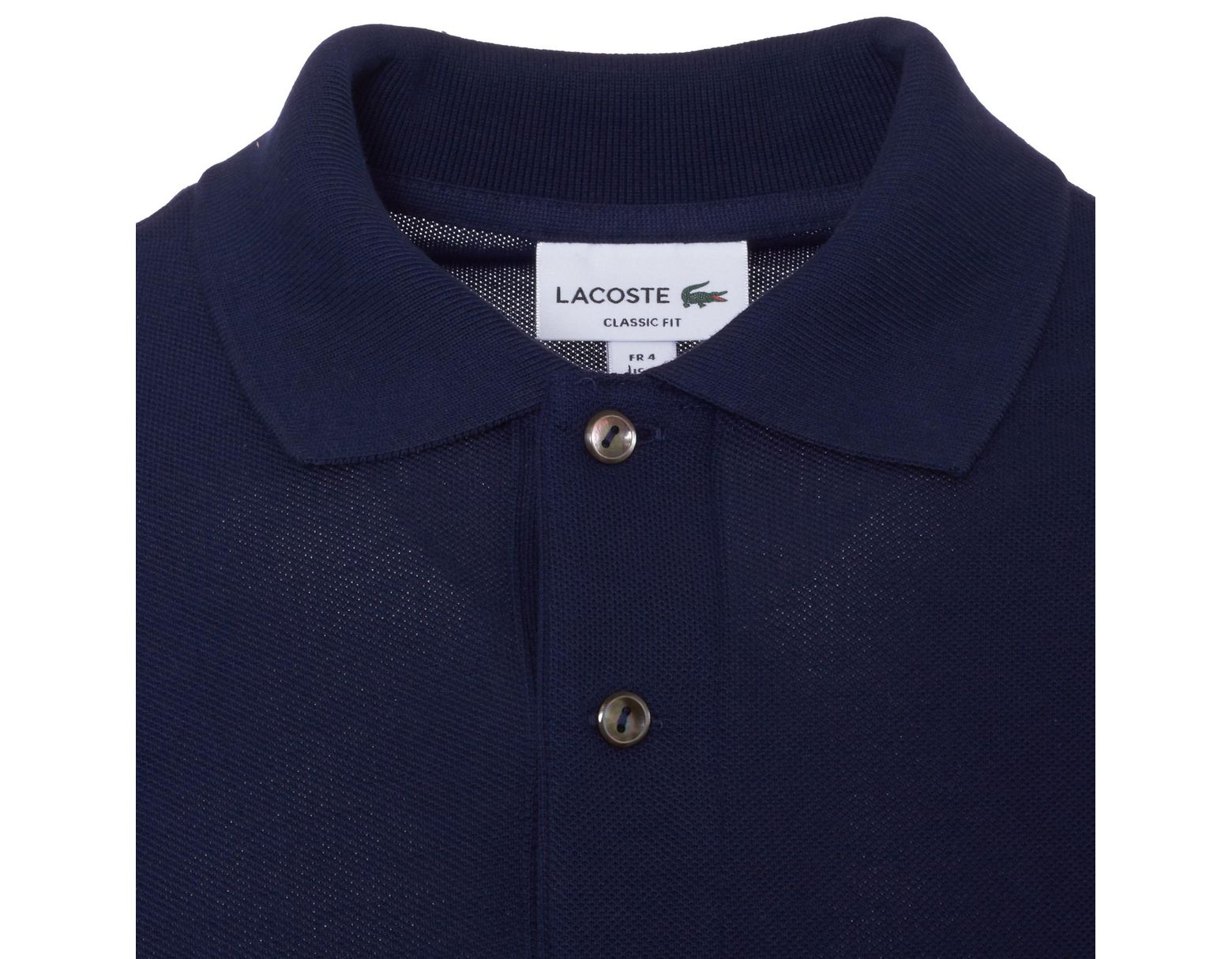 2308e0e9648 Lacoste Classic Pique Navy Polo Shirt L1212 00 166 in Blue for Men - Lyst