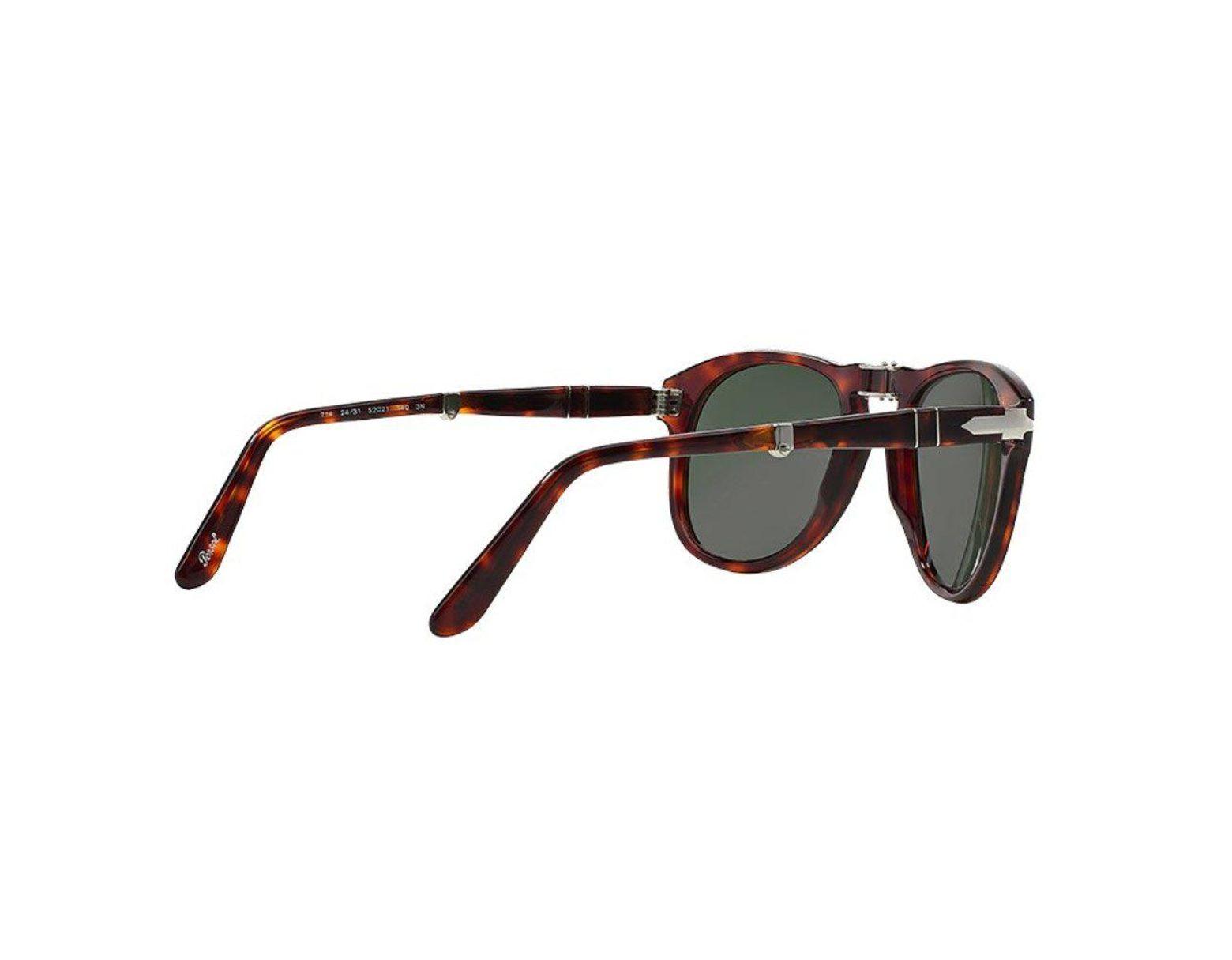 2ef60f4950bd Persol 714 Havana Tortoise Foldable Sunglasses 0po0714 24/ in Black for Men  - Lyst