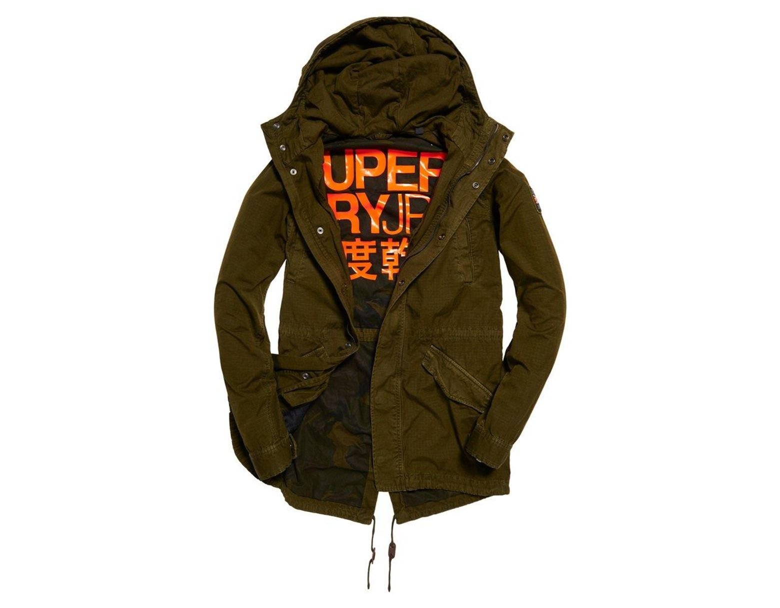 b442577c3eb86 Superdry Rookie Fishtail Parka Jacket in Green for Men - Lyst