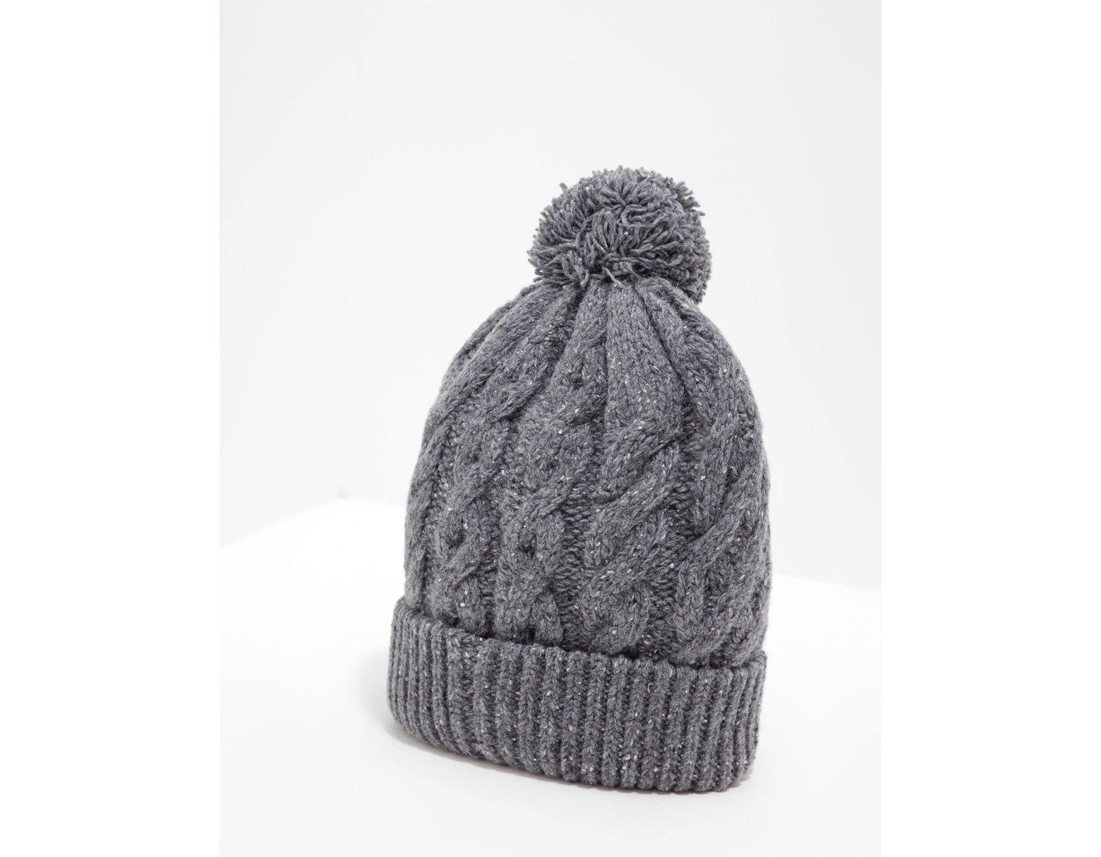 b05e404d6b60c Barbour Bobble Hat in Gray for Men - Lyst