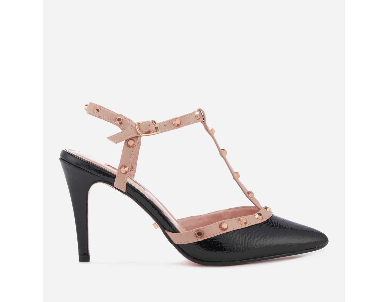 3c80b1560 Dune Catelyn Leather Court Shoes in Black - Save 6% - Lyst