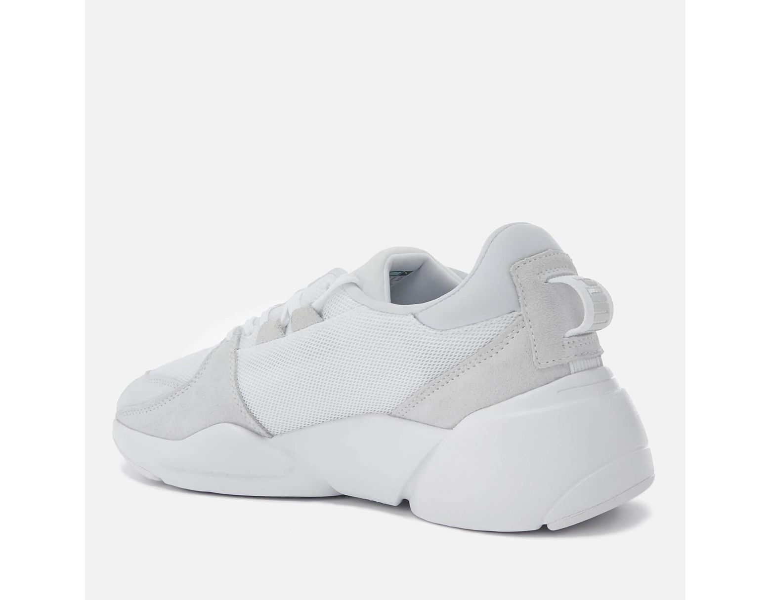 PUMA Zeta Suede Trainers in White for Men Lyst