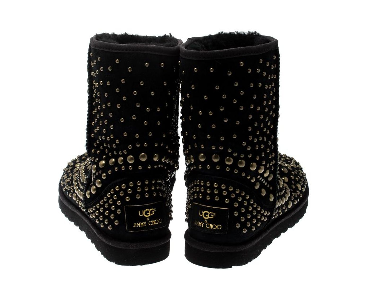c7b15290845 Women's X Uggs Black Studded Suede Mandah Boots Size 40