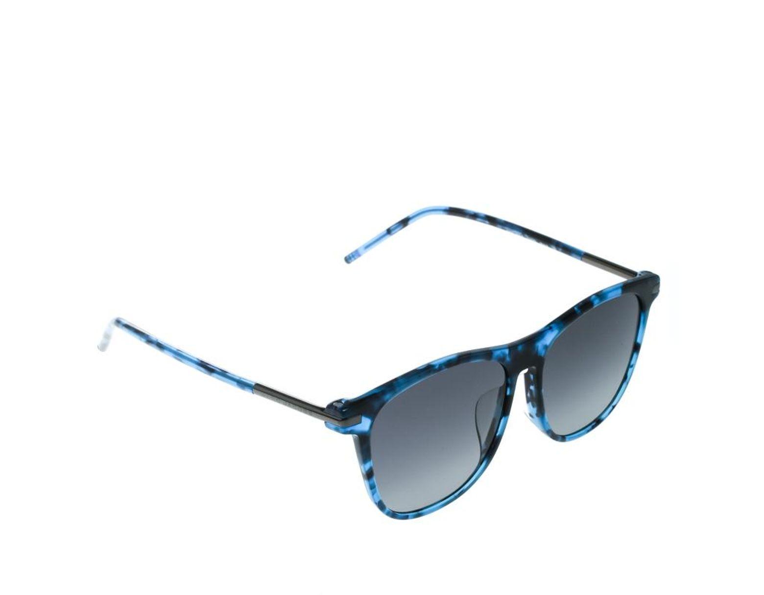 a1b00b625dbd Marc Jacobs Blue Tortoise / Grey Marc 86/f/s Square Sunglasses in Gray -  Lyst