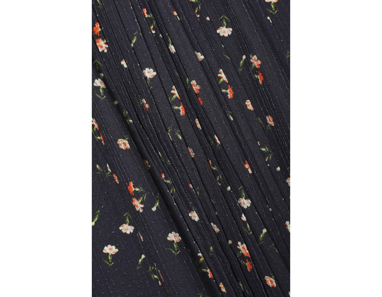 65eae135 Sea Woman Cutout Floral-print Cotton-gauze Midi Dress Black in Black - Save  57% - Lyst