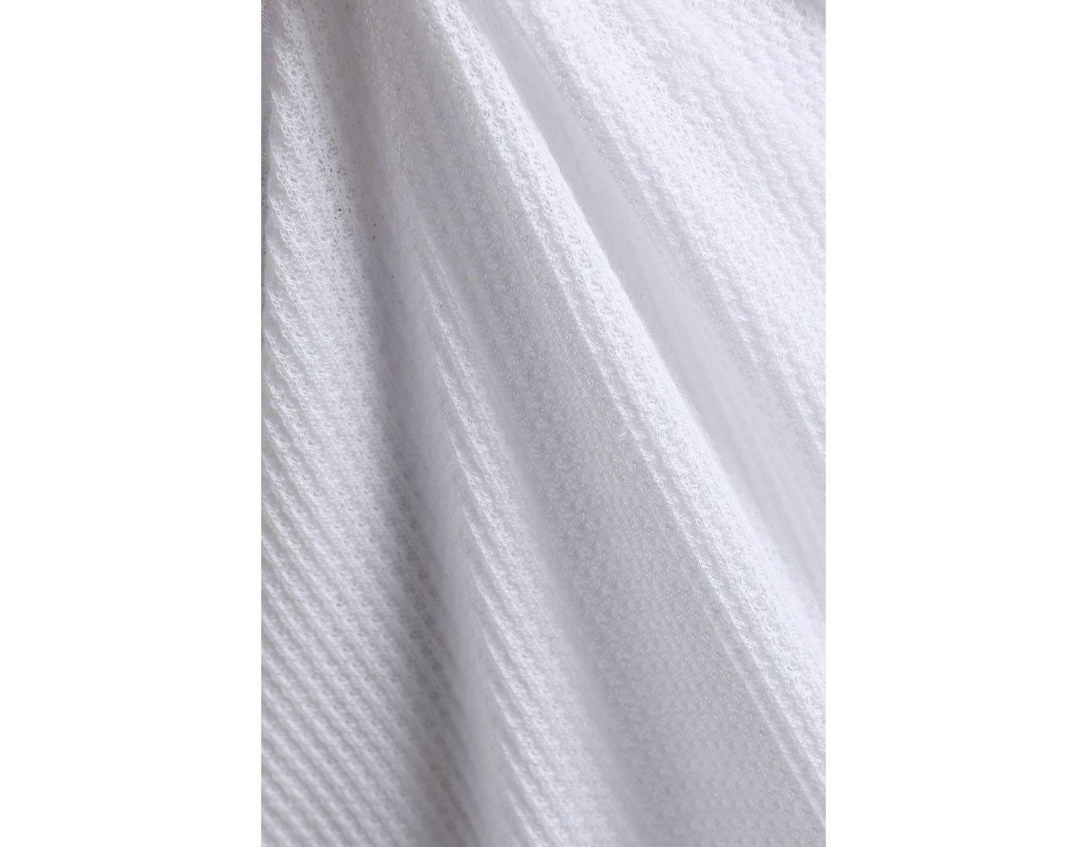 Skin Waffle Knit Cotton Nightdress White In White Lyst
