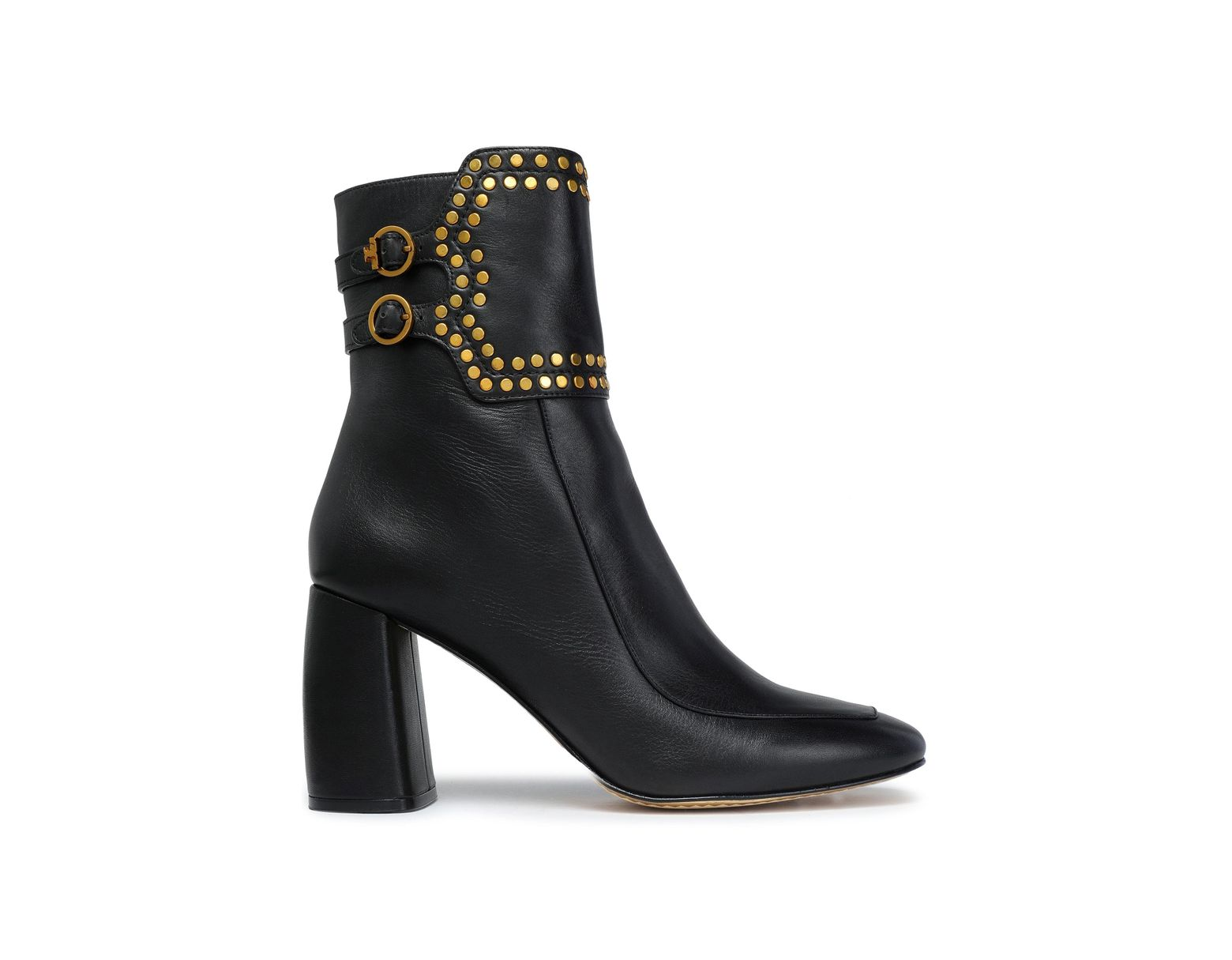 4e9da9603 Tory Burch Studded Leather Ankle Boots Black in Black - Lyst