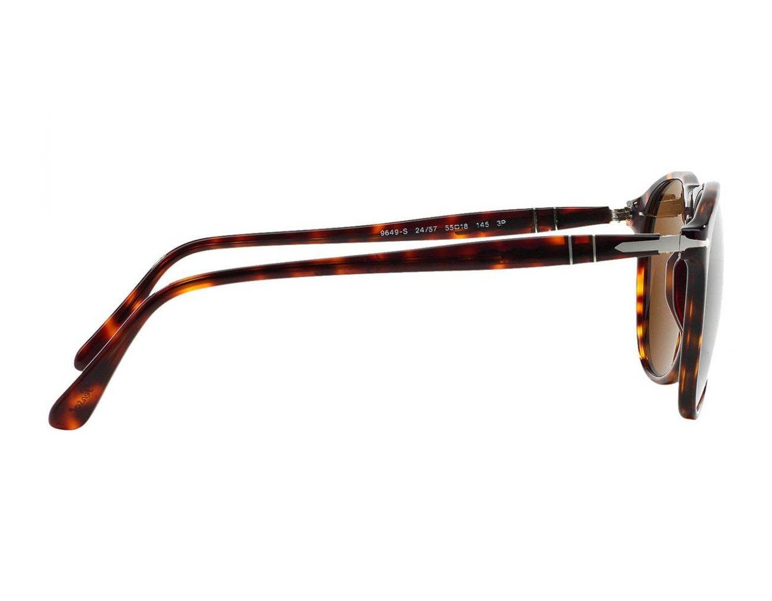 4ca7a05a652e Persol Icons Po9649s 24/57 Polarized Havana With Brown Lenses Sunglasses in  Brown for Men - Lyst