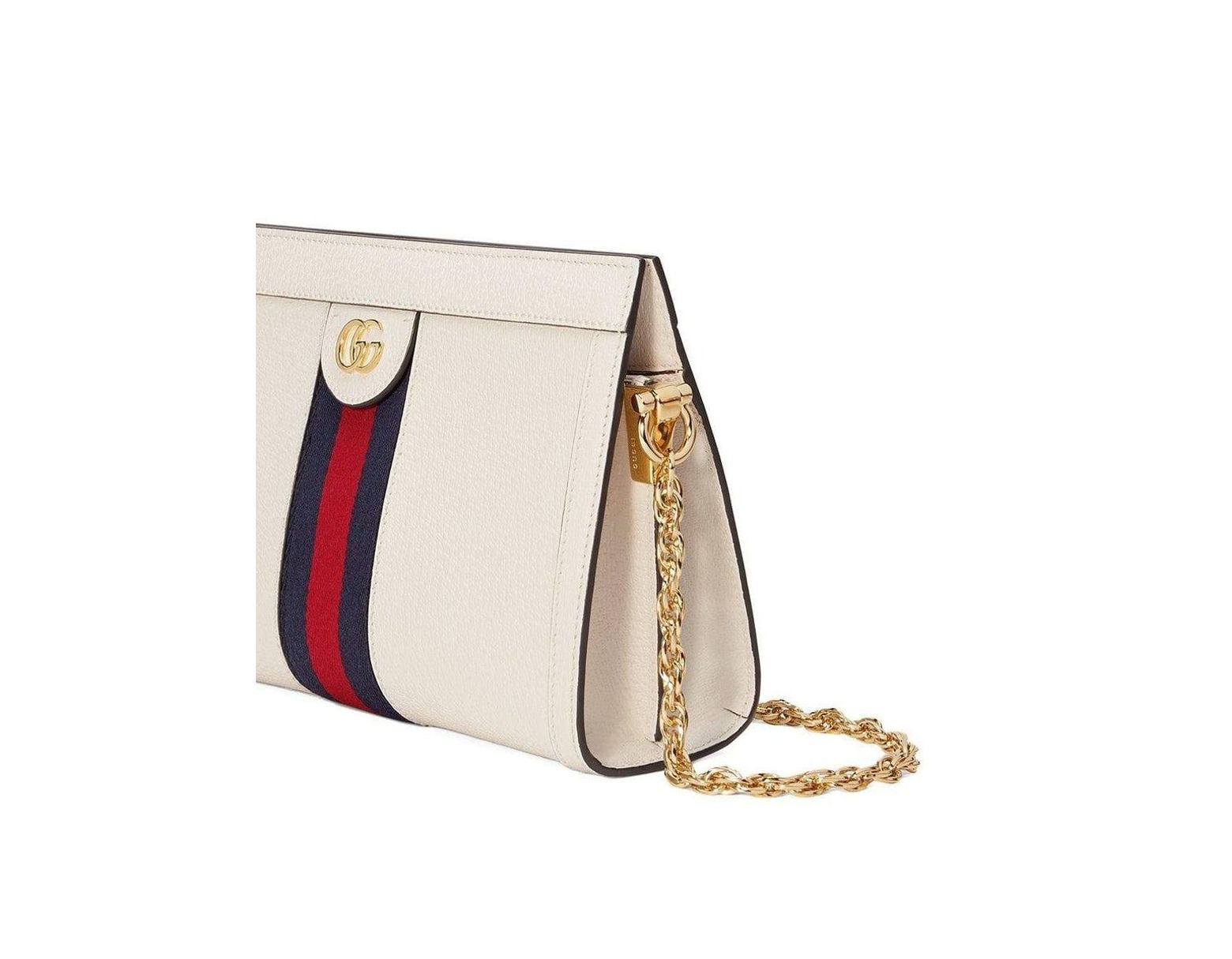 8319bf445 Gucci Ophidia Leather Bag White in White - Lyst