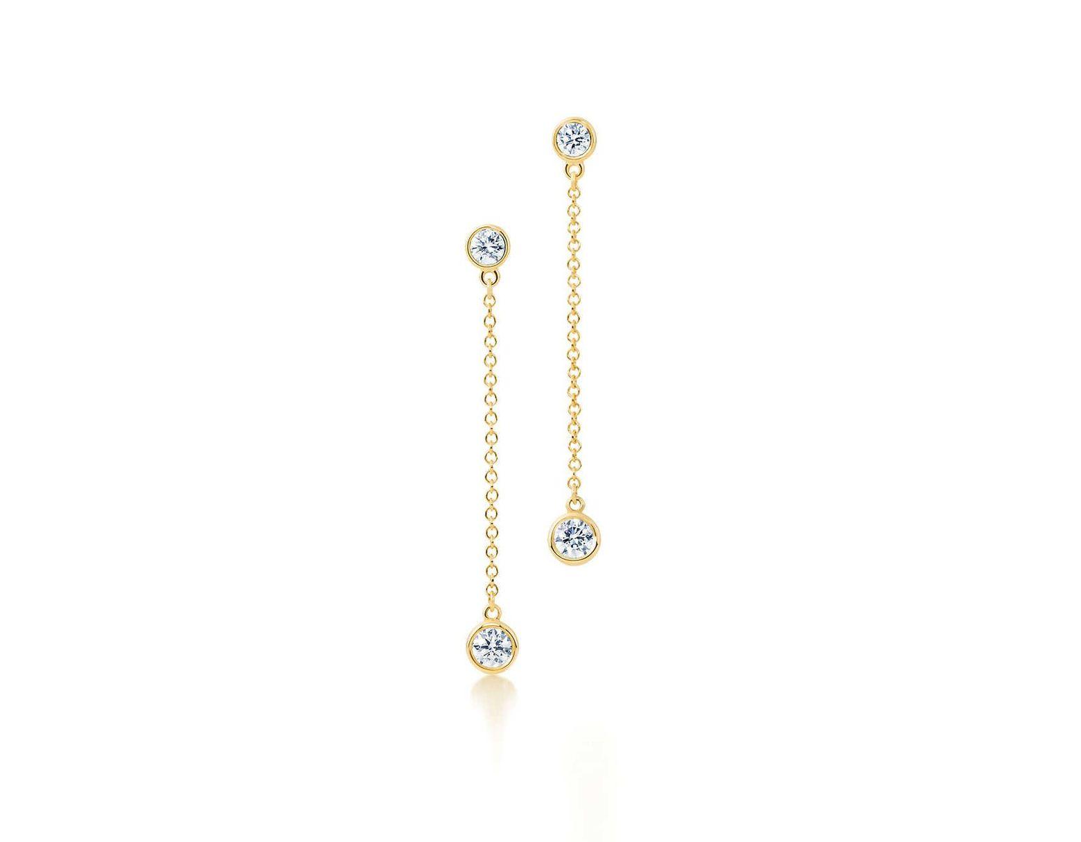 0d5e34975 Tiffany & Co. Elsa Peretti® Diamonds By The Yard® Drop Earrings In 18k Gold  in Metallic - Lyst