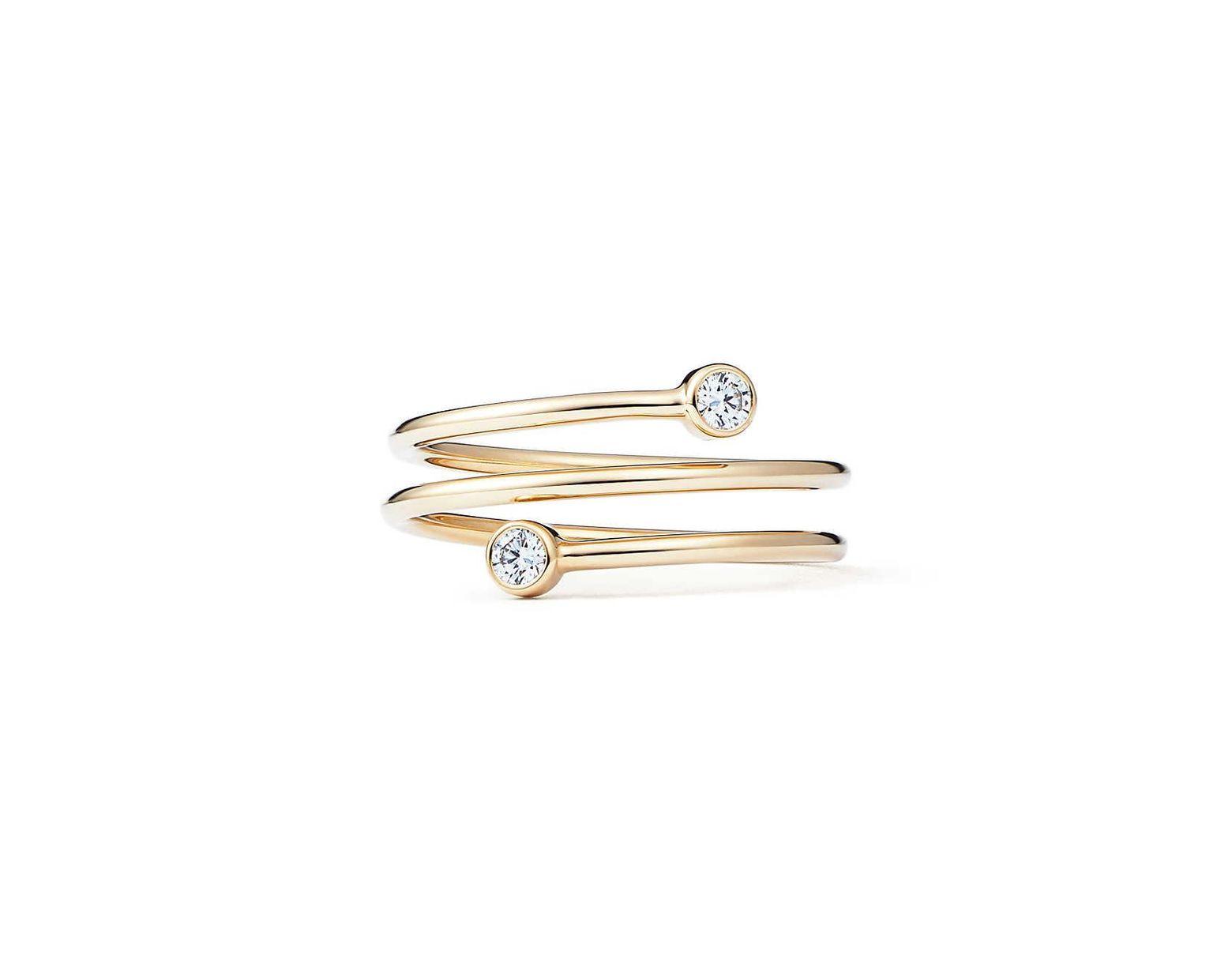 06d3bfe6e Tiffany & Co. Elsa Peretti® Diamond Hoop Three-row Ring In 18k Gold With  Diamonds - Size 4 in Metallic - Lyst