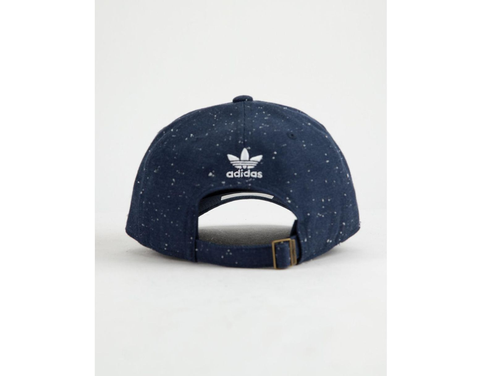 f6038e205dd0ba adidas Originals Relaxed Wool Collegiate Navy & White Mens Strapback Hat in  Blue for Men - Lyst