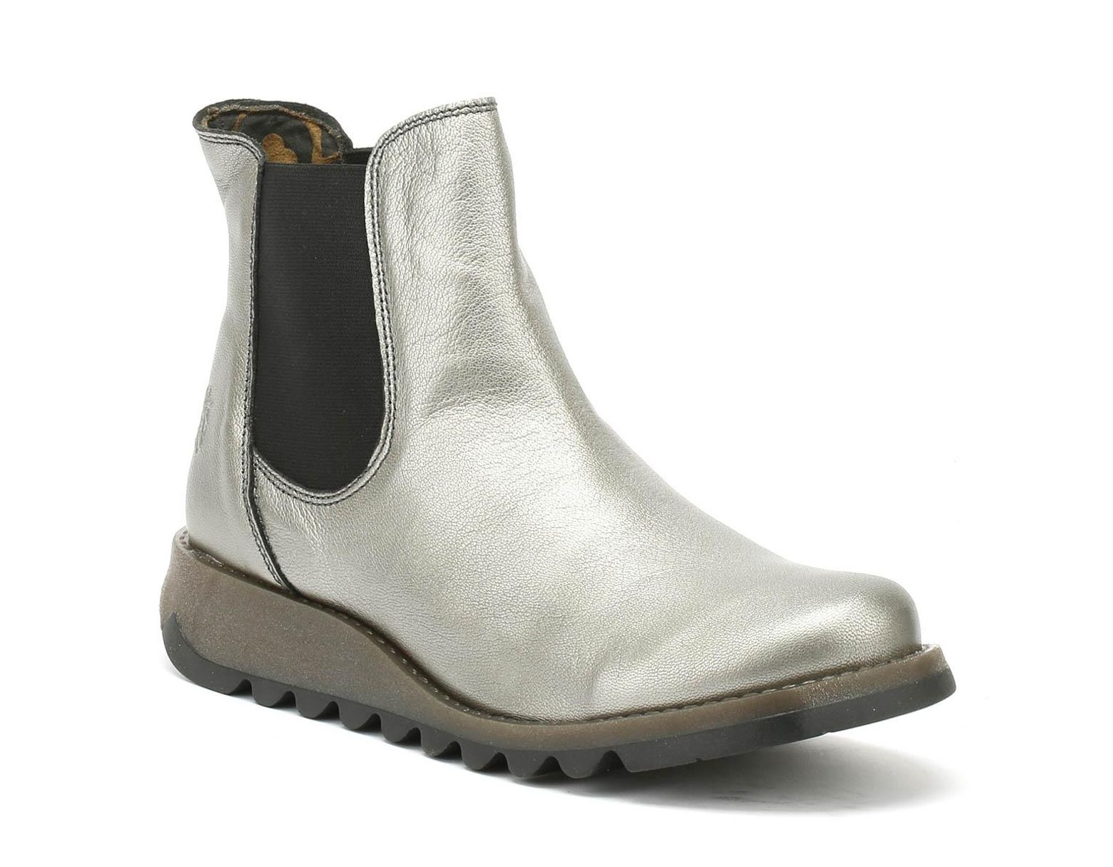 30155a10ccafc Fly London Womens Lead Silver Salv Borgogna Boots in Metallic - Lyst
