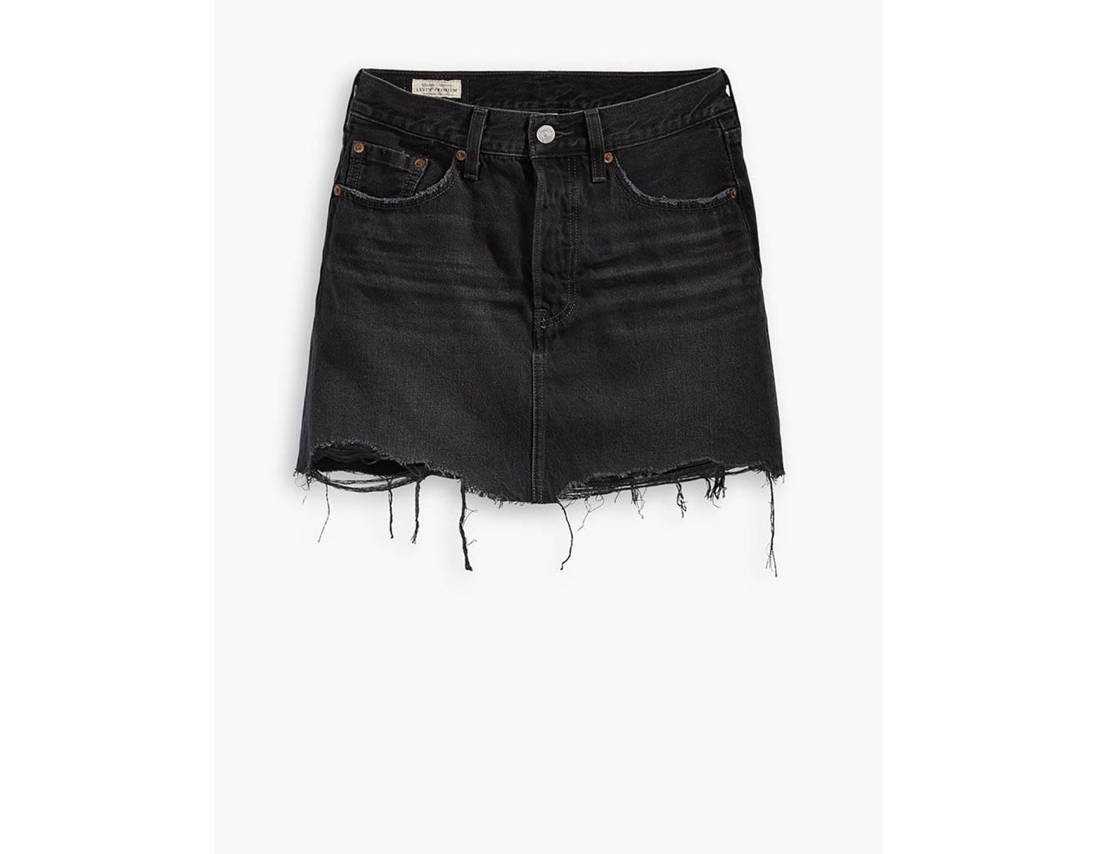 5790c6e12 Levi's Black Cotton Ill Fated Deconstructed Mini Skirt in Black - Lyst